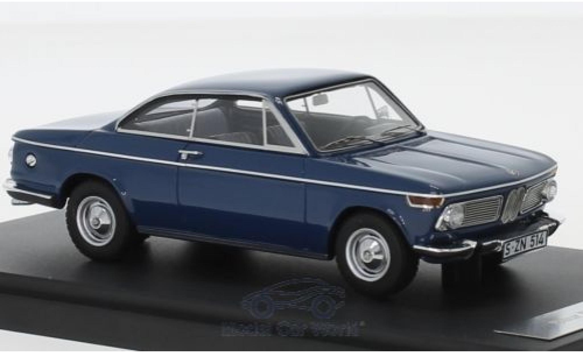 Bmw 1600 1/43 Matrix -2 Baur Coupe bleue 1967