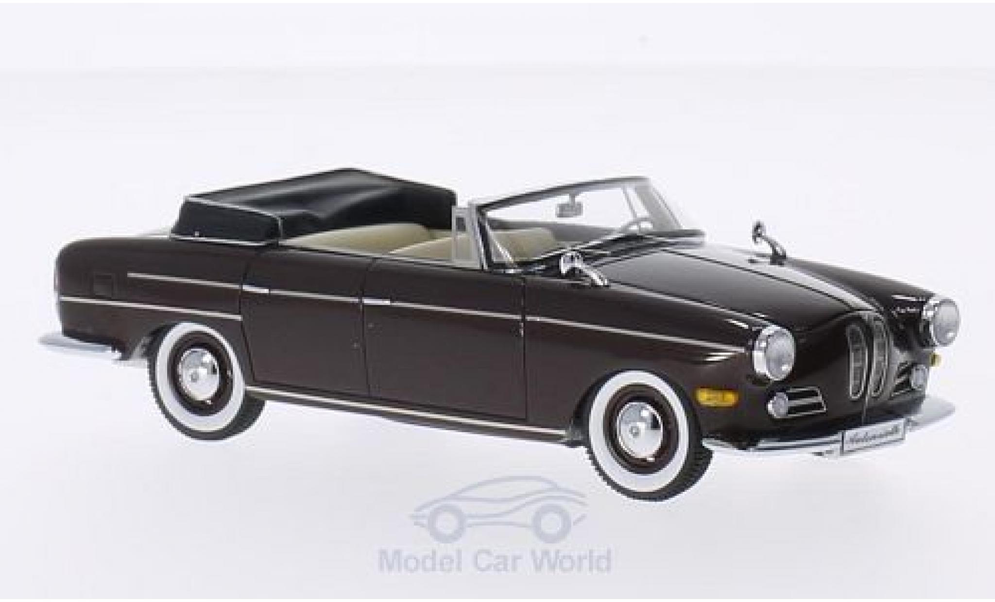 Bmw 3200 1/43 Matrix BMW Super Cabriolet dunkelmarron 1959 by Autenrieth