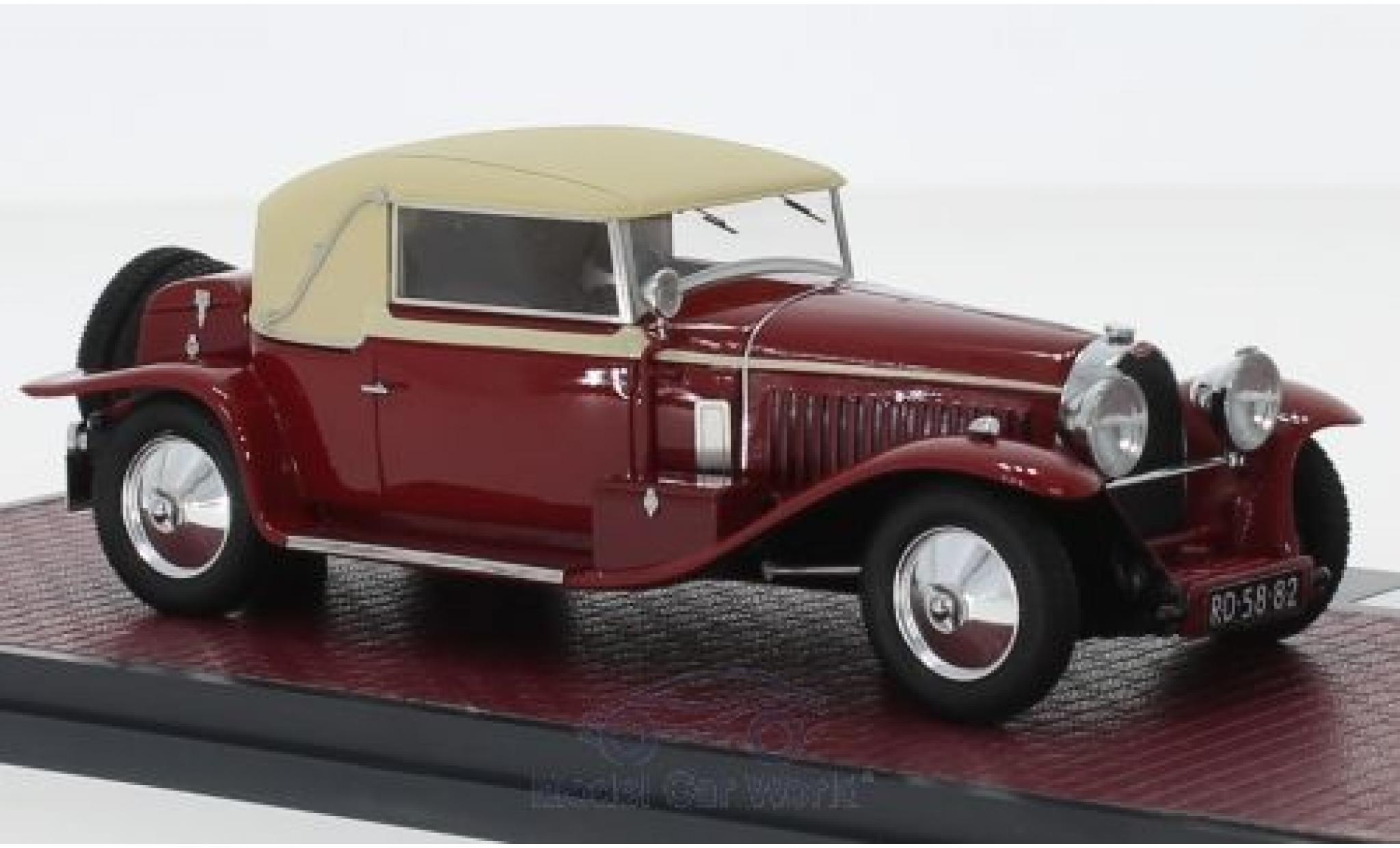 Bugatti 46 1/43 Matrix Type Faux Cabriolet rouge/beige RHD 1930 Veth & Zoon