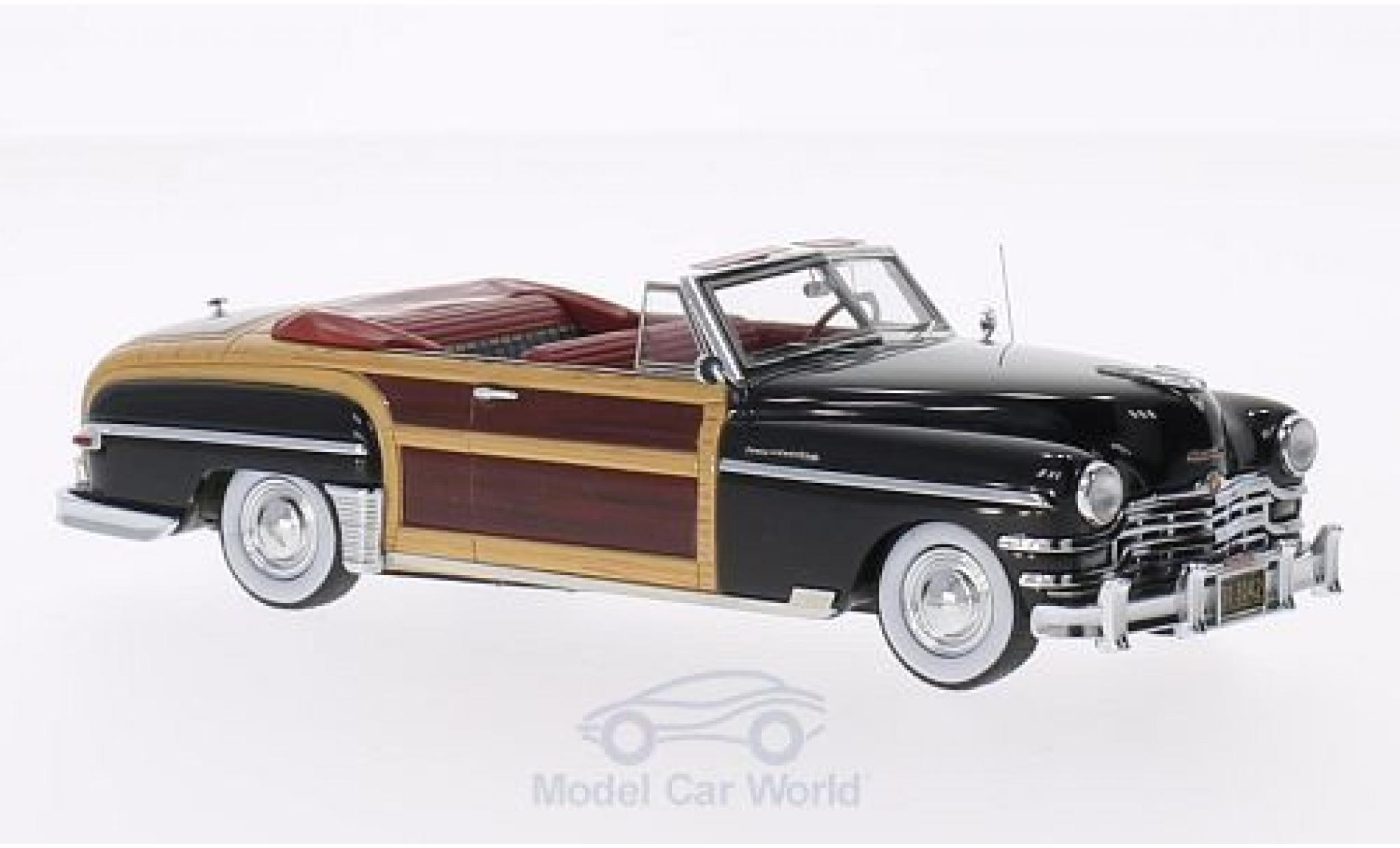 Chrysler Town & Country 1/43 Matrix Convertible noire/Holzoptik 1949
