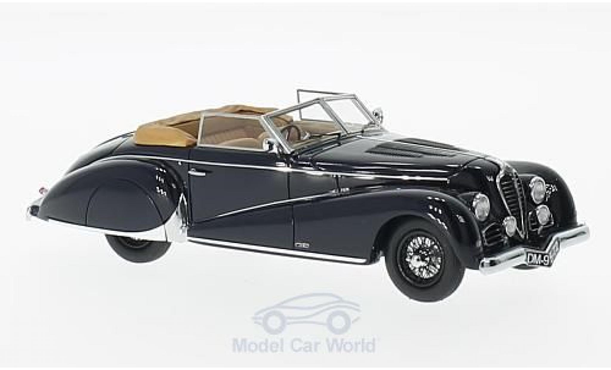 Delahaye 135M Antem Cabriolet 1949 Black Matrix 1:43 MX40408-011