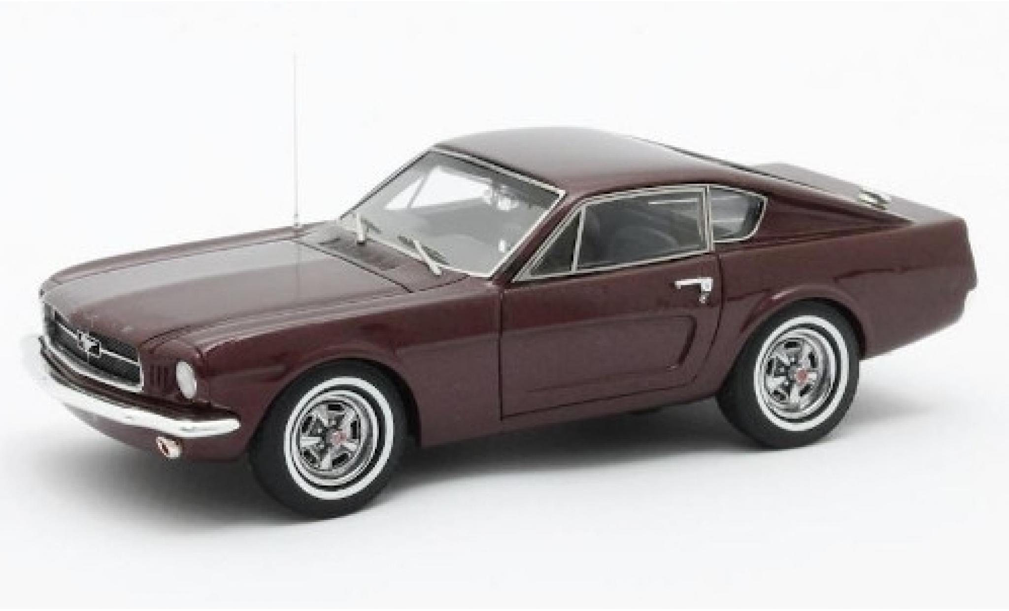Ford Mustang 1/43 Matrix Shorty metallise rouge 1964