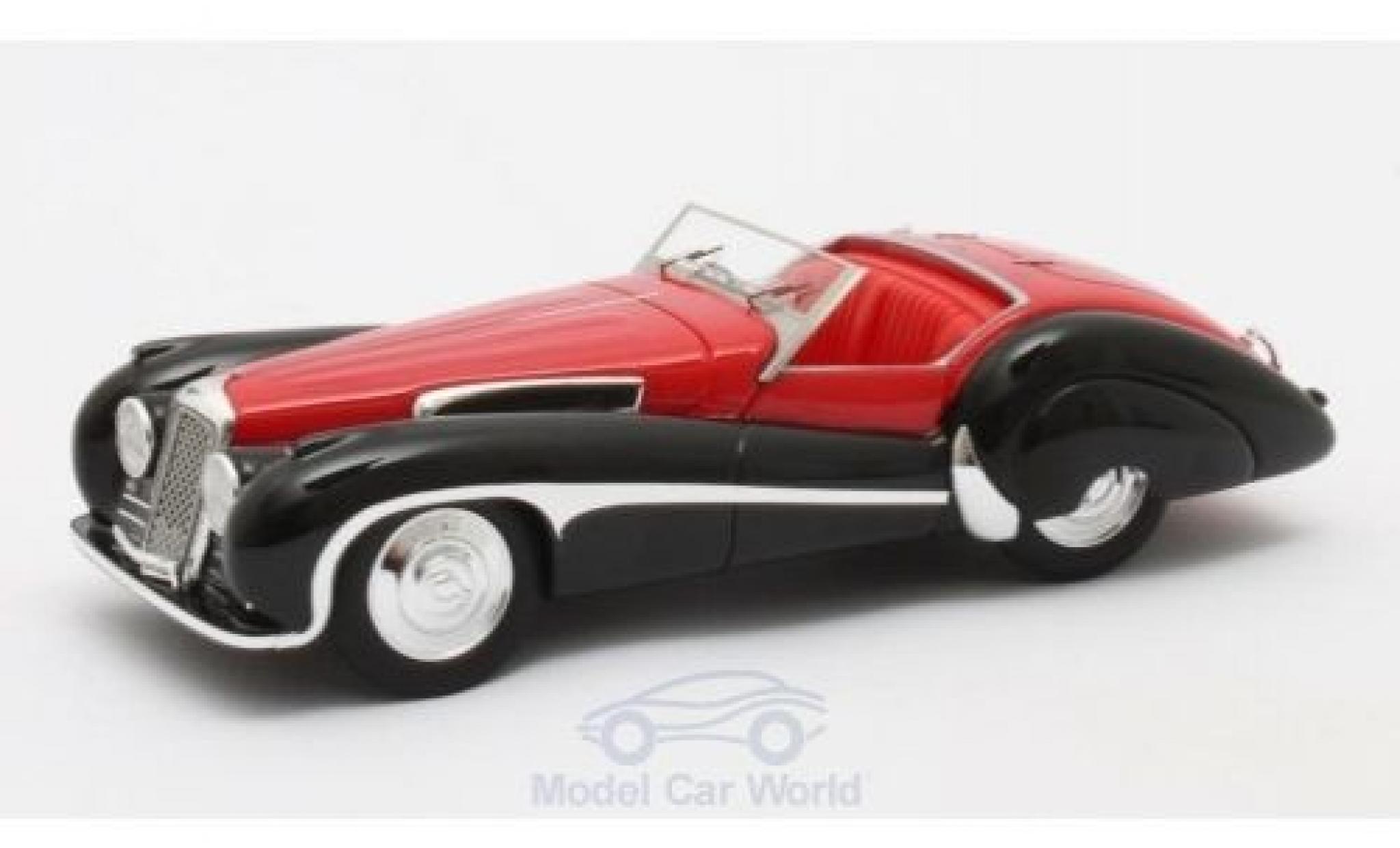 Jaguar SS 1/43 Matrix 100 red/black 1939 Roadster Vanden Plas