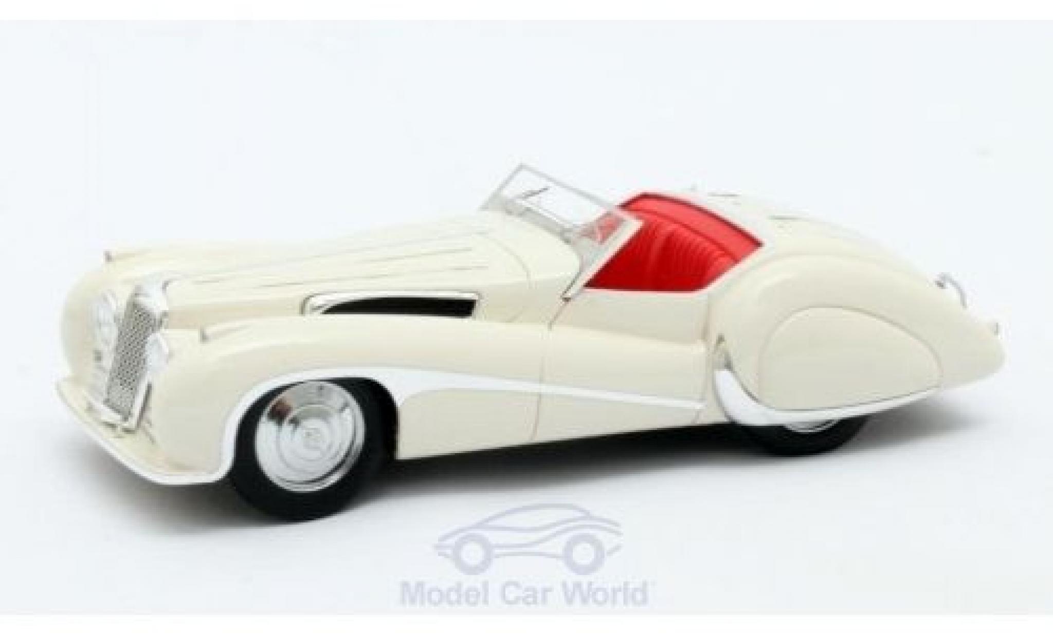 Jaguar SS 1/43 Matrix 100 white 1939 Roadster Vanden Plas