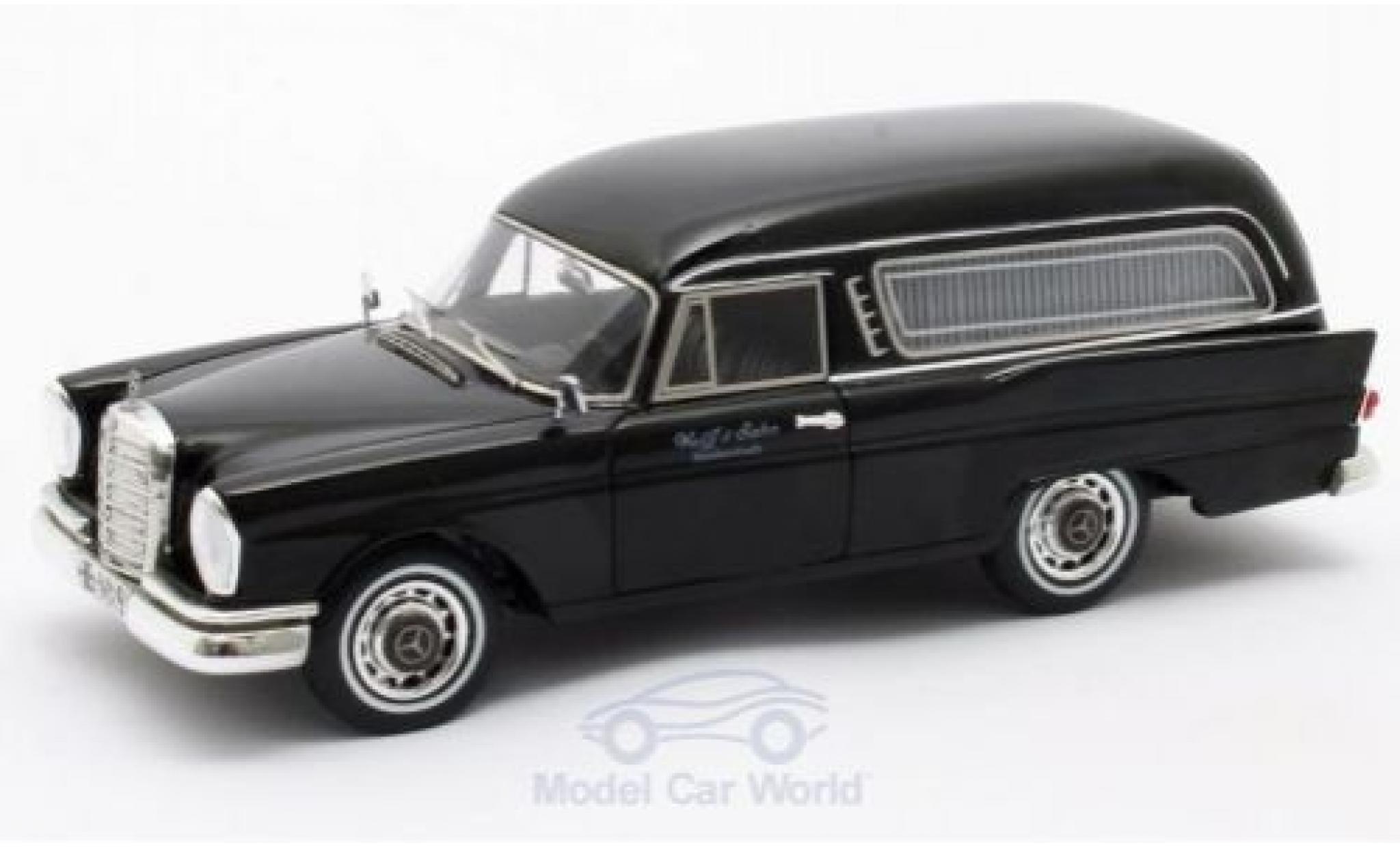 Mercedes 220 1/43 Matrix SE (W111) Pollmann noire 1966
