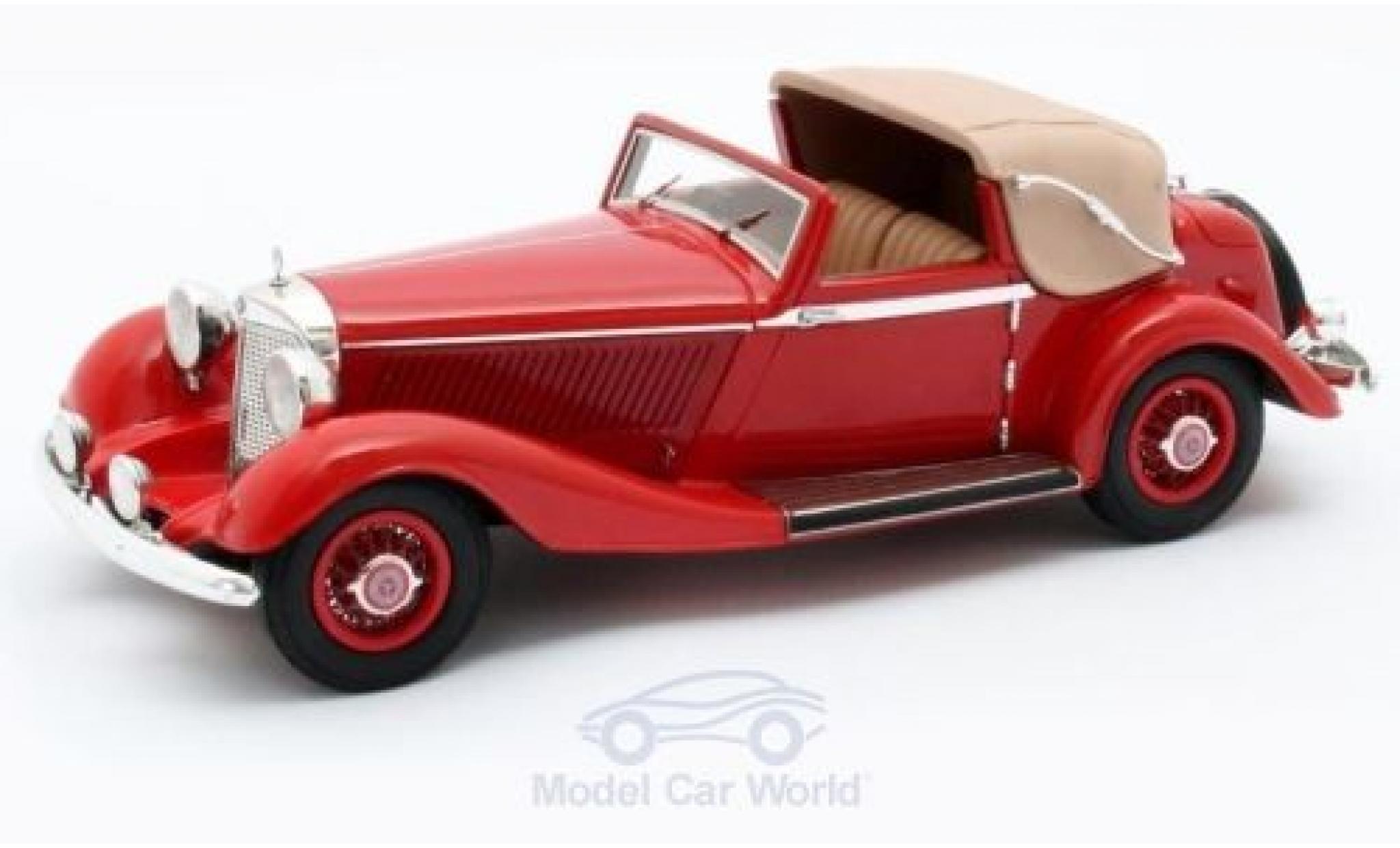 Mercedes 500 1/43 Matrix K 3-Position DHC Corsica rouge RHD 1935 #123689