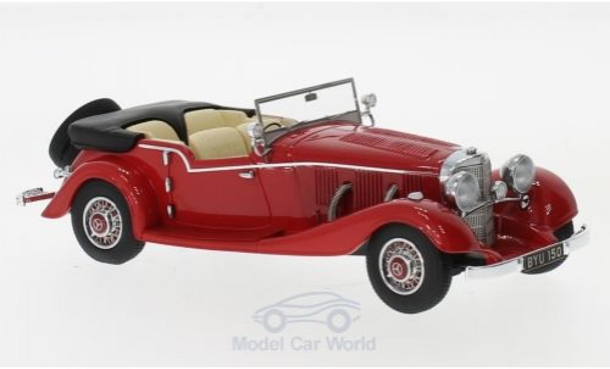 Mercedes 500 K 1/43 Matrix Tourer Mayfair rouge RHD 1934