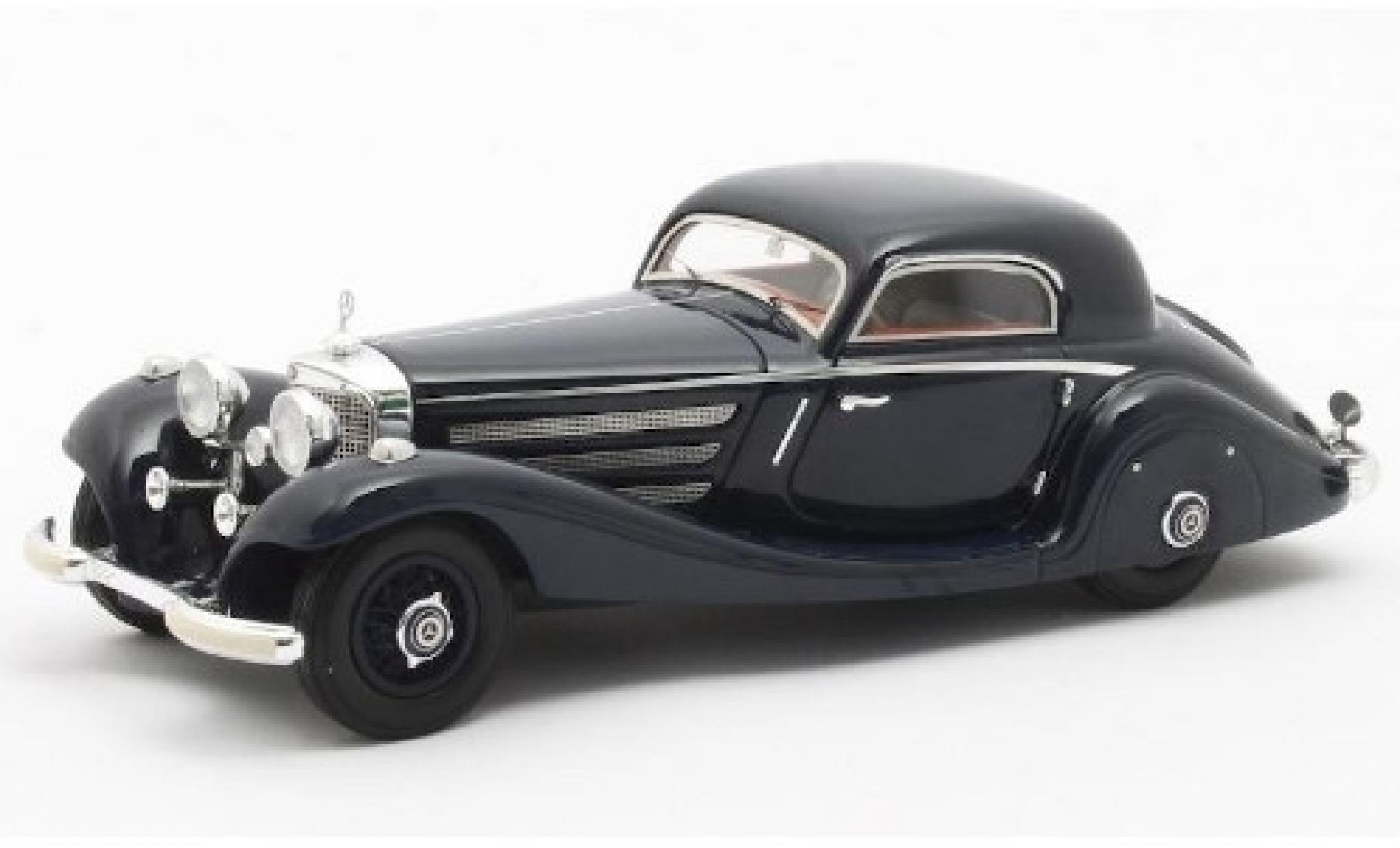 Mercedes 540 1/43 Matrix K (W29) Spezial Coupe bleue 1936 Fahrgestell-Nr.154139