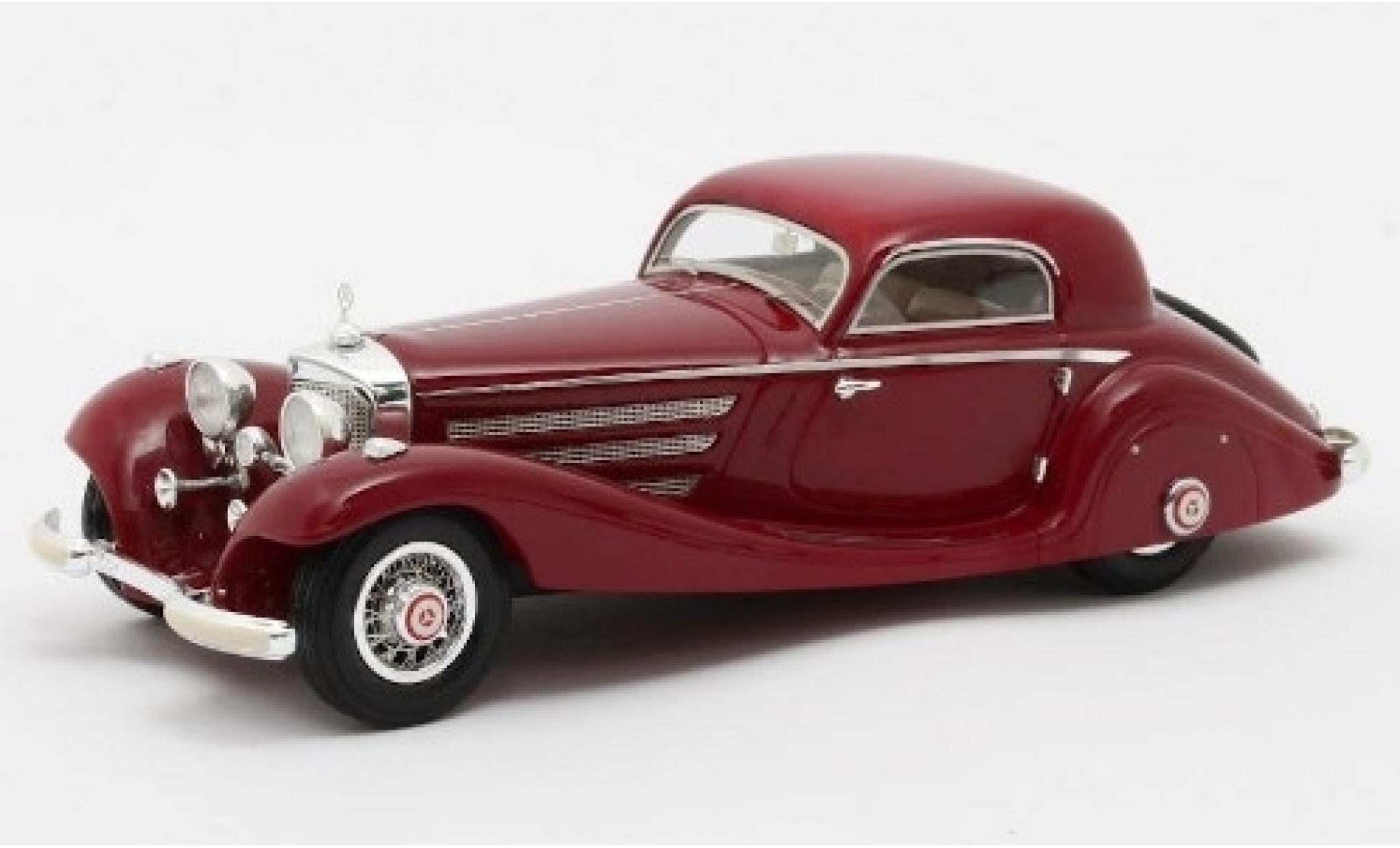 Mercedes 540 1/43 Matrix K (W29) Spezial Coupe rouge 1936 Fahrgestell-Nr.130944
