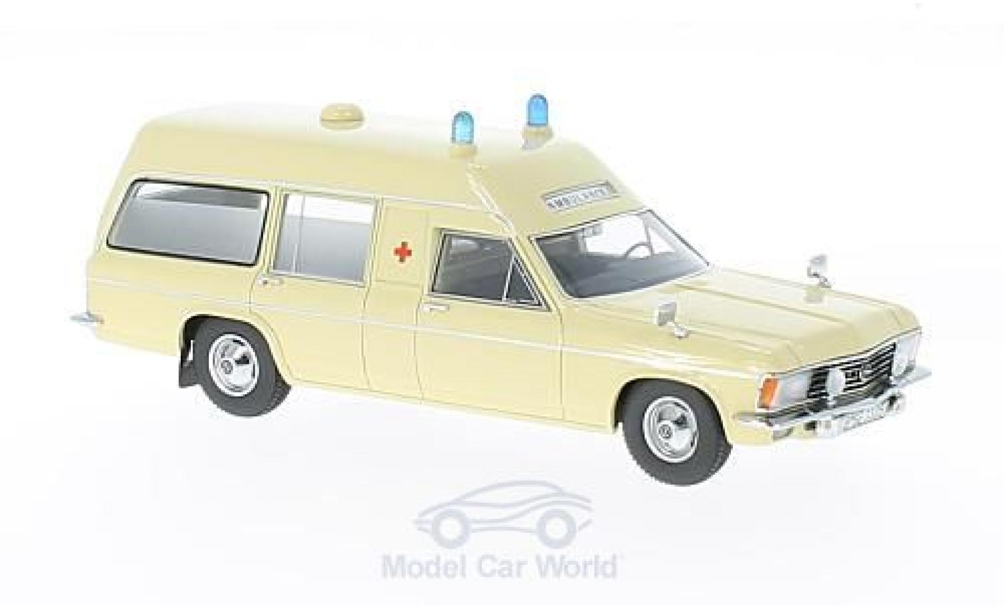 Opel Admiral 1/43 Matrix B Miesen LWB beige Ambulance 1970