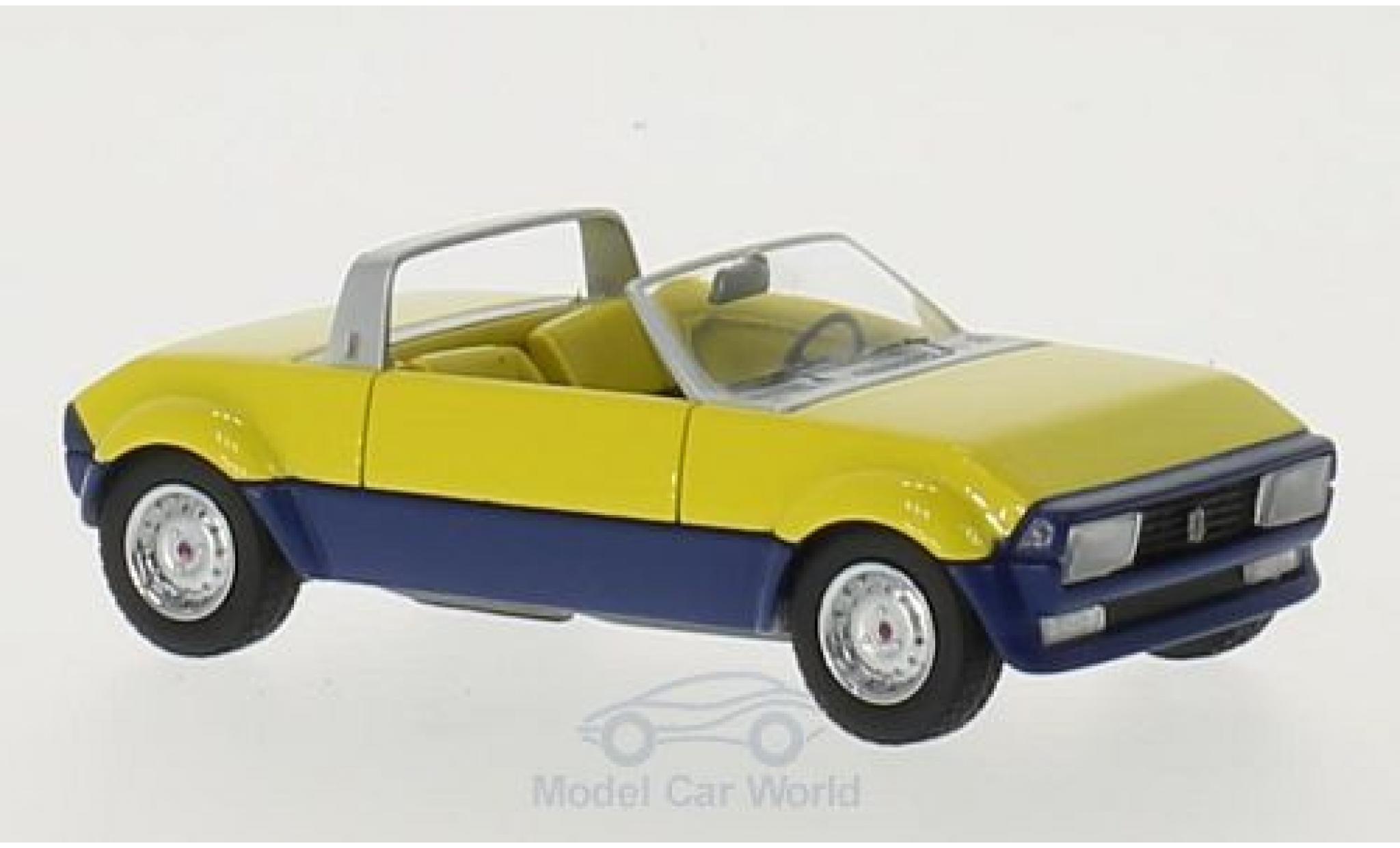 Peugeot 104 1/43 Matrix Peugette by Pininfarina jaune/bleue 1976