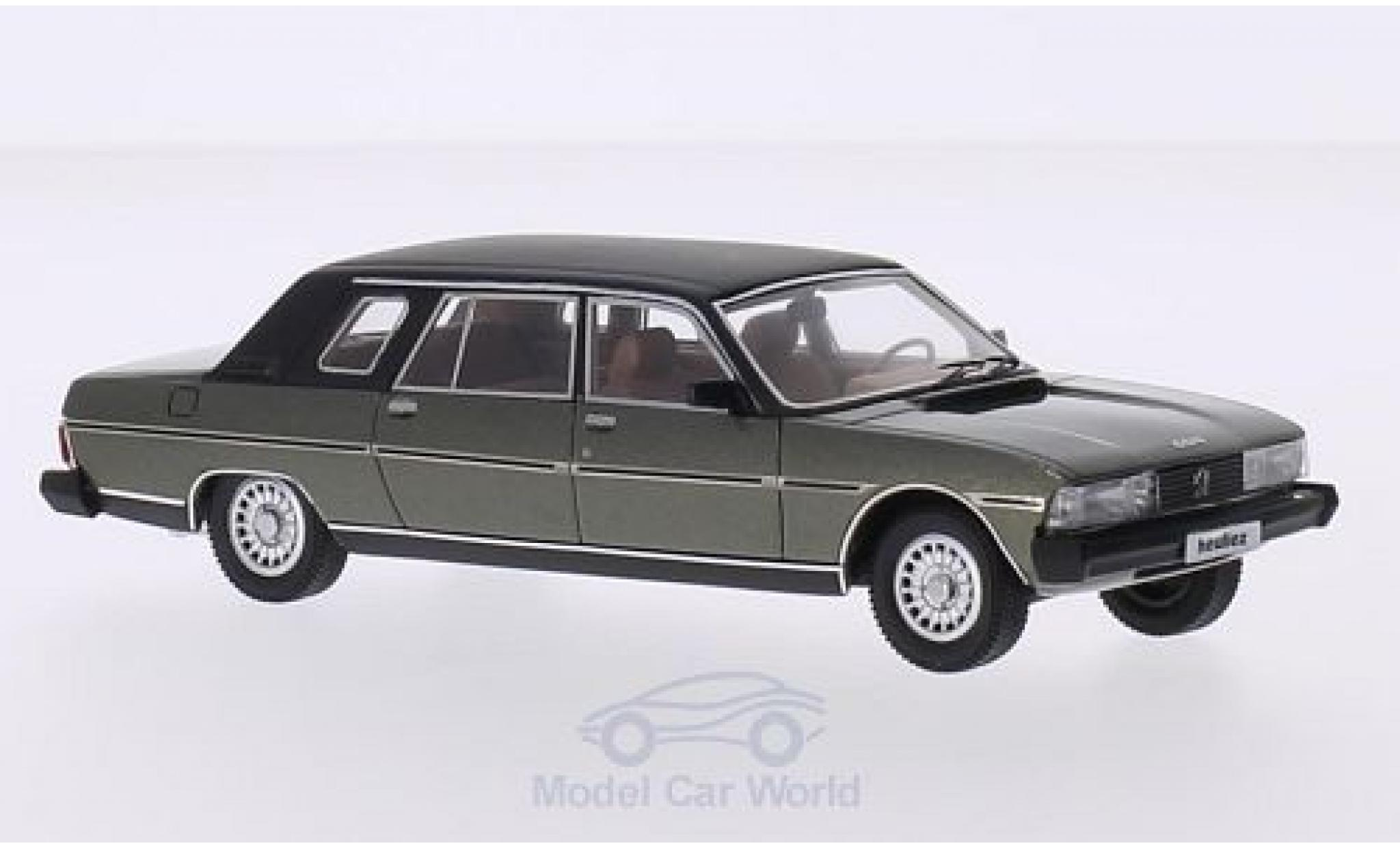 Peugeot 604 1/43 Matrix Heuliez Limousine metallise verte/matt-noire 1980