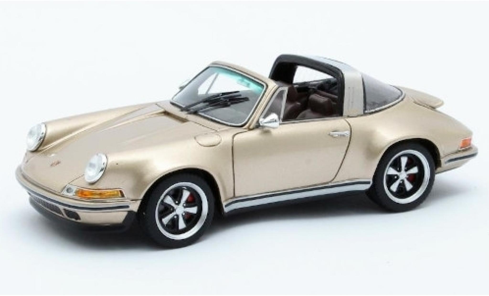 Porsche 911 1/43 Matrix Targa Singer Design gold