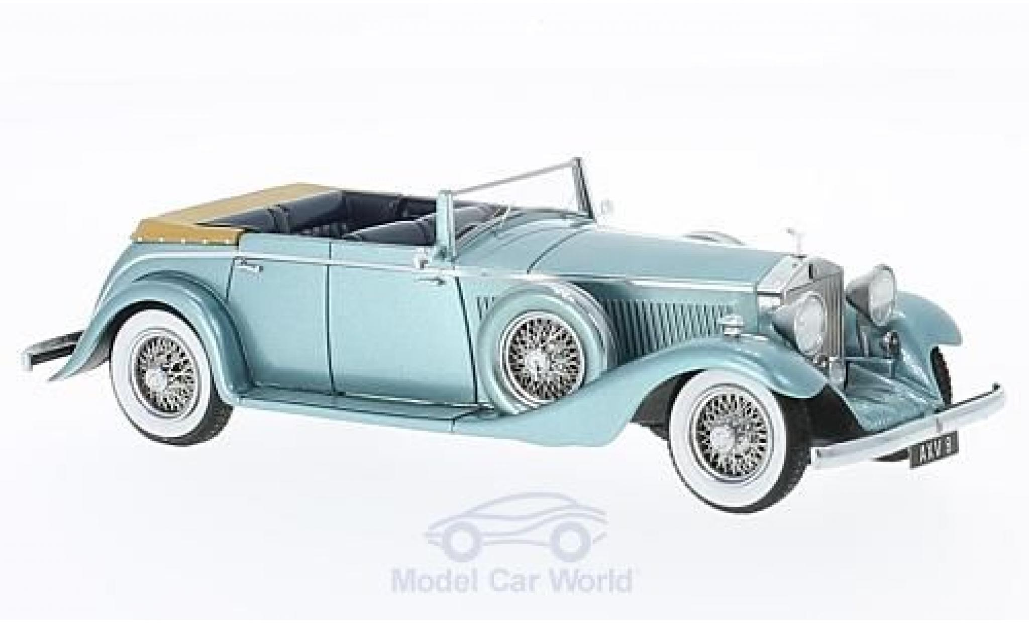 Rolls Royce Phantom 1/43 Matrix II Continental All-Weather Tourer metallise bleue 1934 Nubar Gulbenkian Hooper #7RY