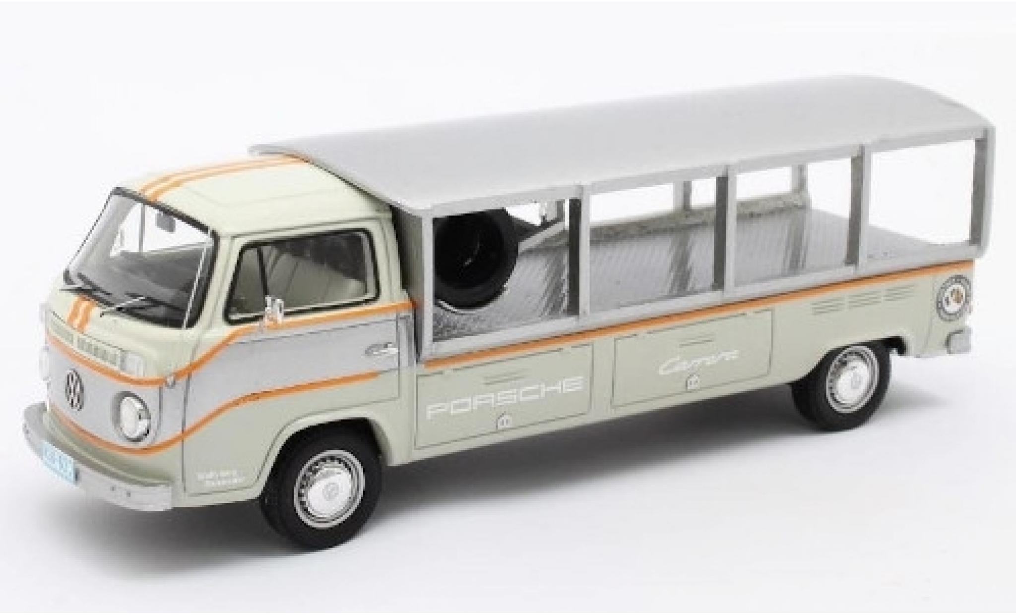 Volkswagen T2 1/43 Matrix Renntransporter grise/blanche RHD 1976