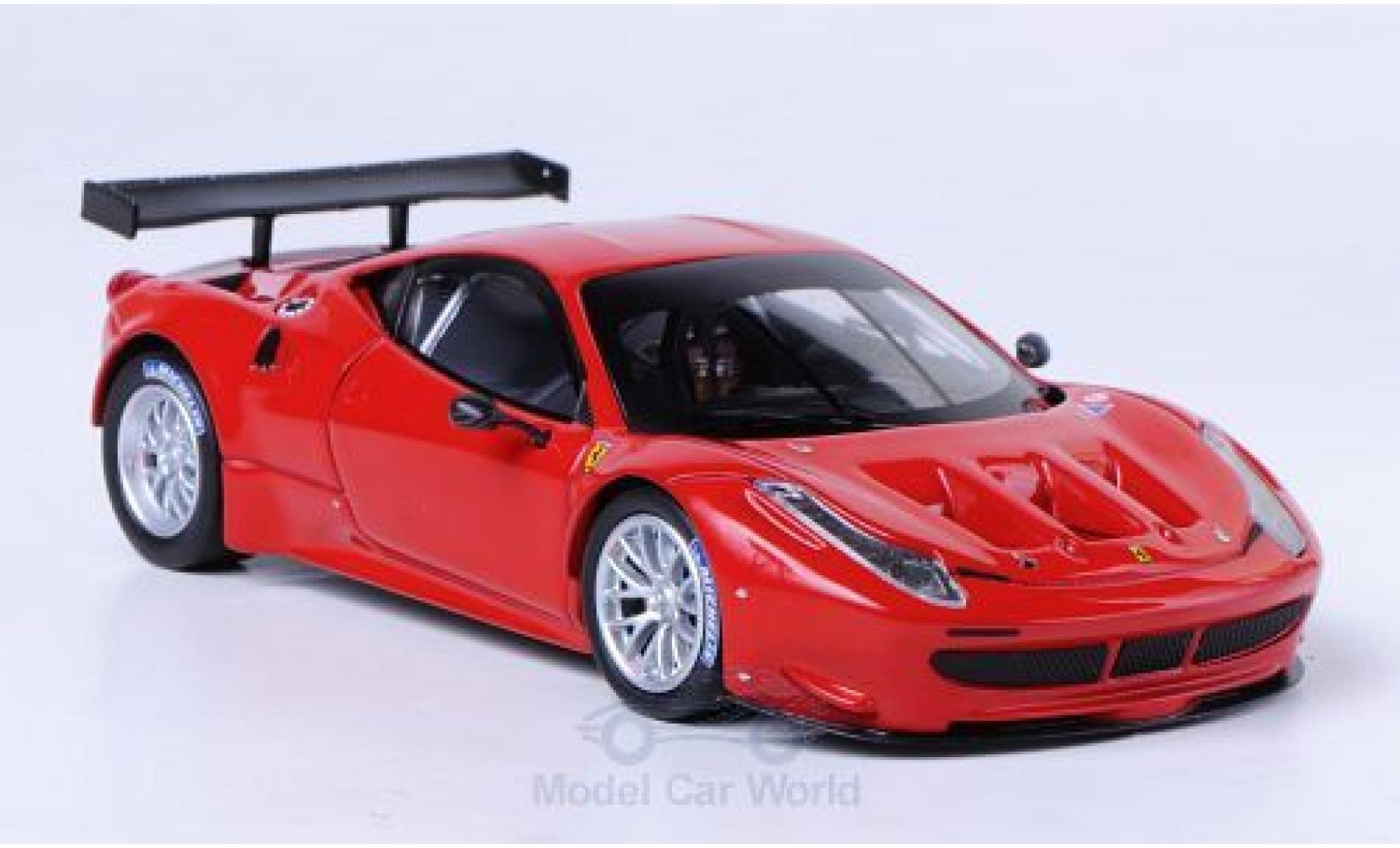 Ferrari 458 Italia GT2 1/43 Mattel Elite Italia GT2 rouge Präsentationsfahrzeug