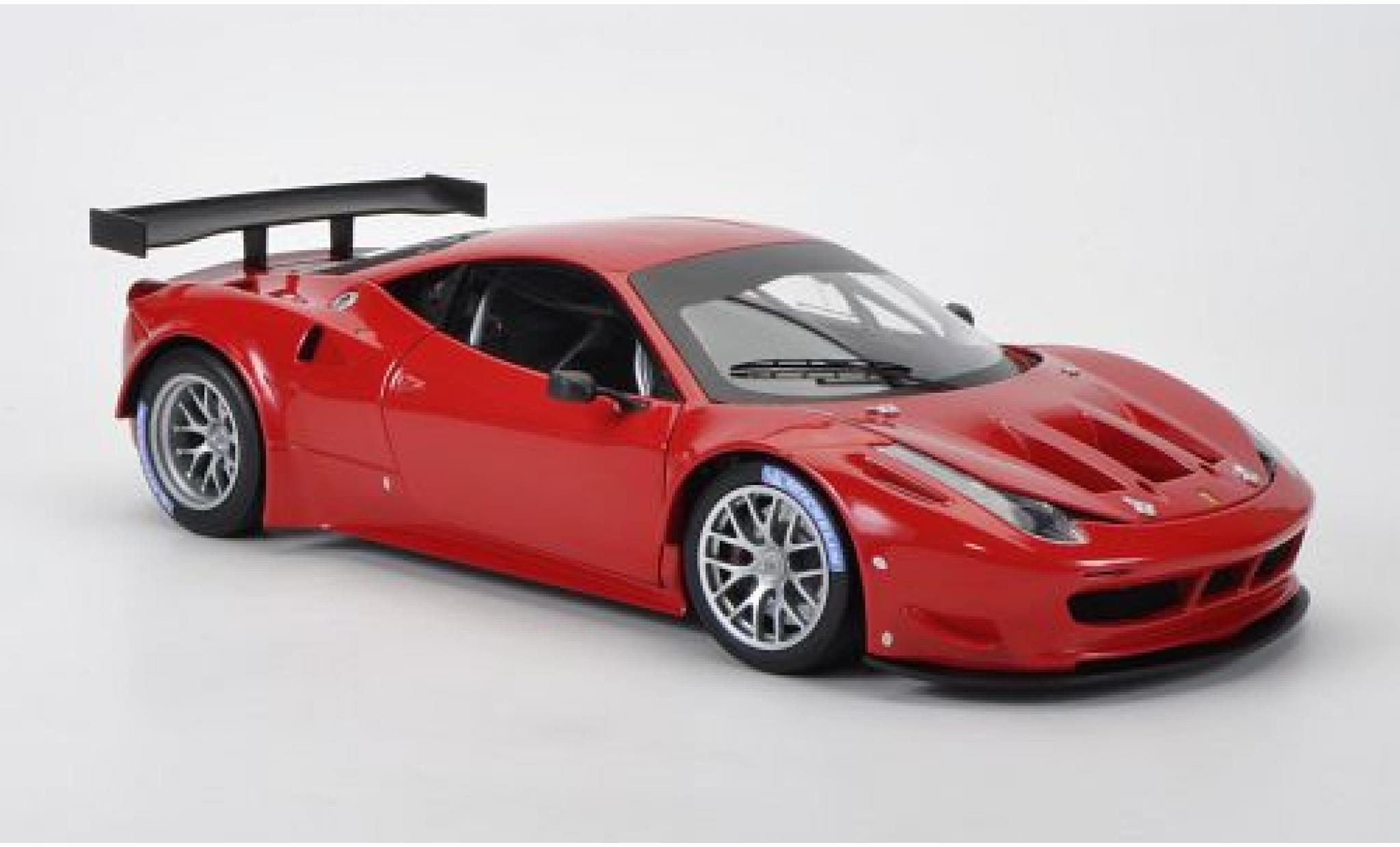 Ferrari 458 1/18 Mattel Elite Italia GT2 rojo Präsentationsfahrzeug sans Vitrine