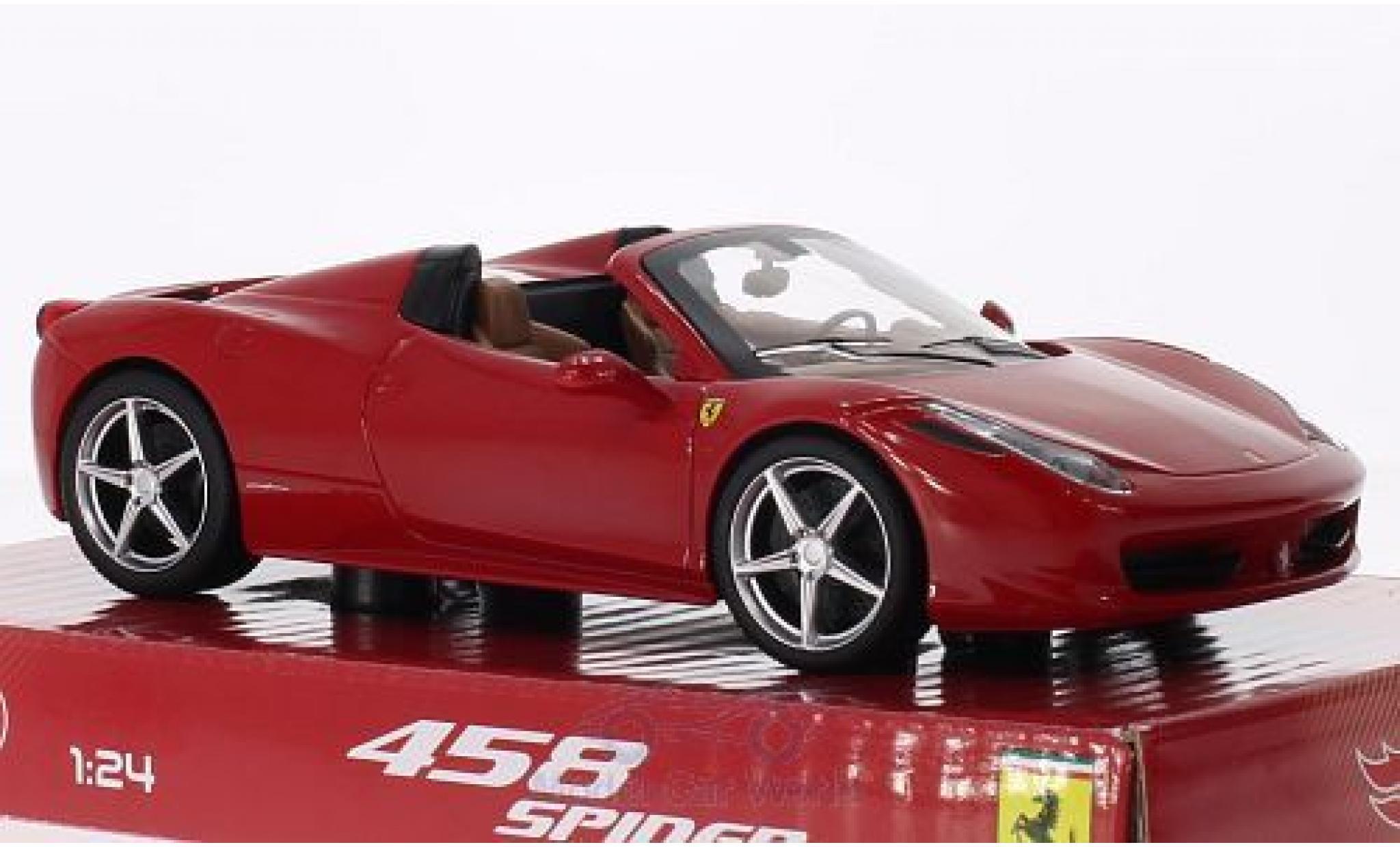 Ferrari 458 1/24 Mattel Spider rosso