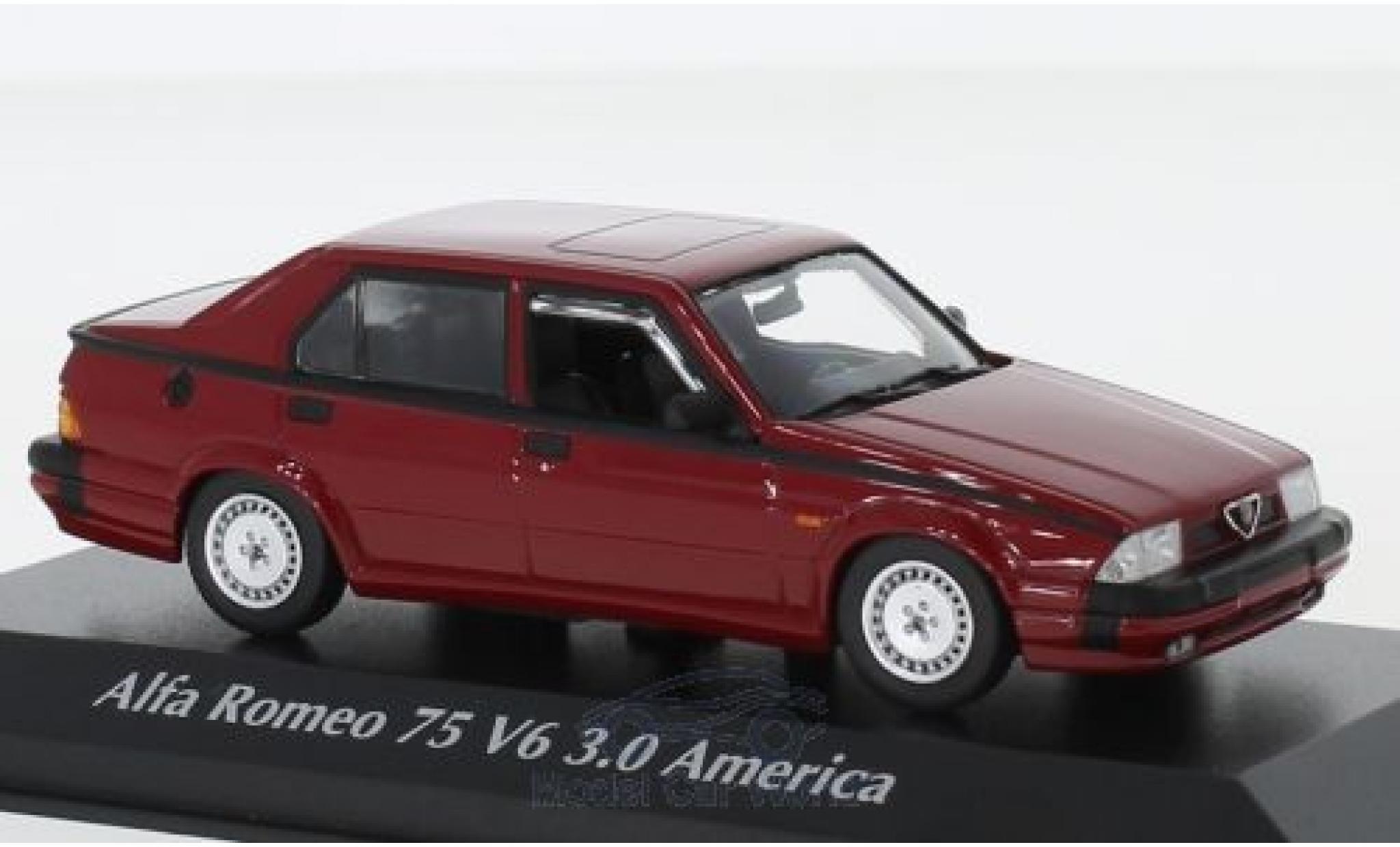 Alfa Romeo 75 1/43 Maxichamps V6 3.0 America rouge 1987