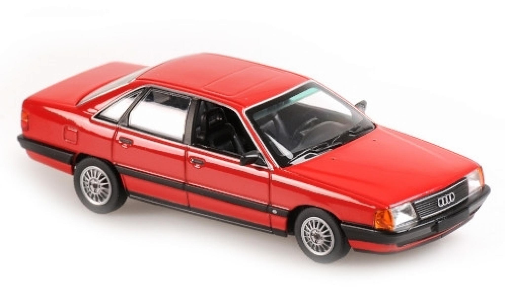 Audi 100 1/43 Maxichamps rouge 1990