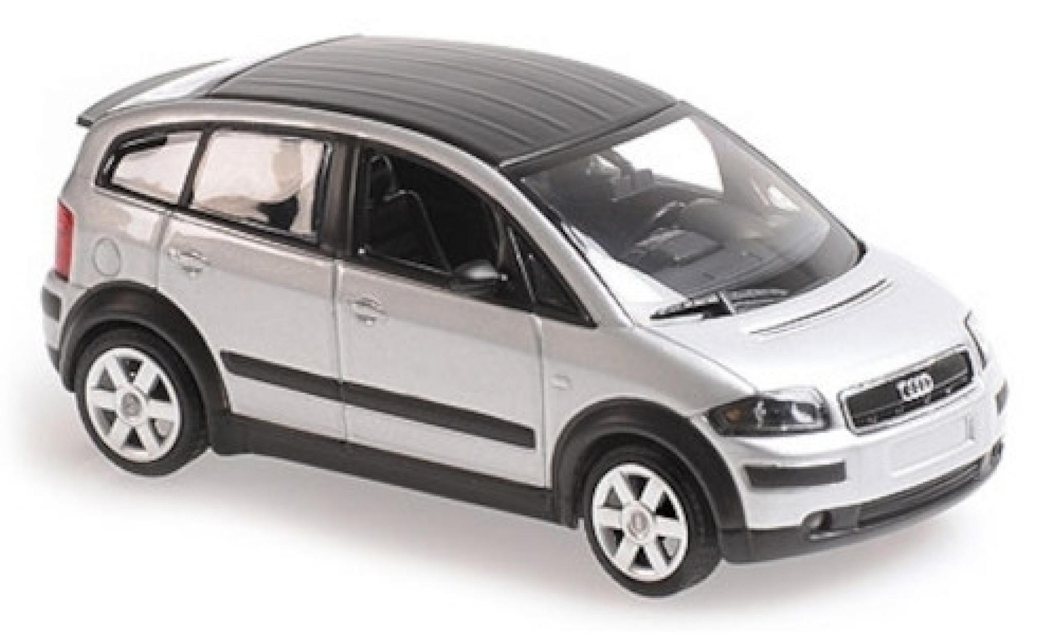 Audi A2 1/43 Maxichamps grey/matt-black 2000