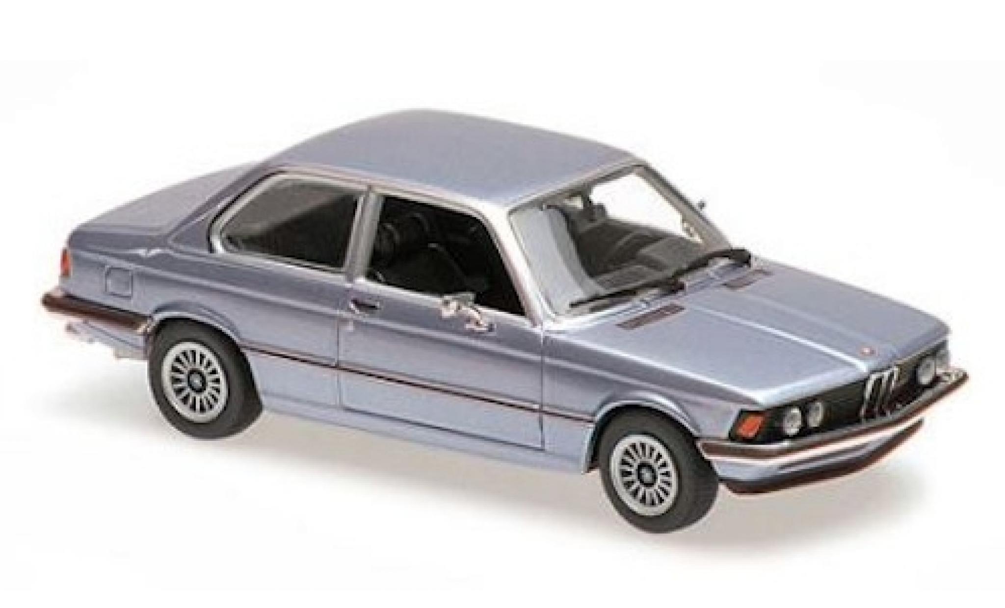 Bmw 323 1/43 Maxichamps i (E21) metallise bleue 1975