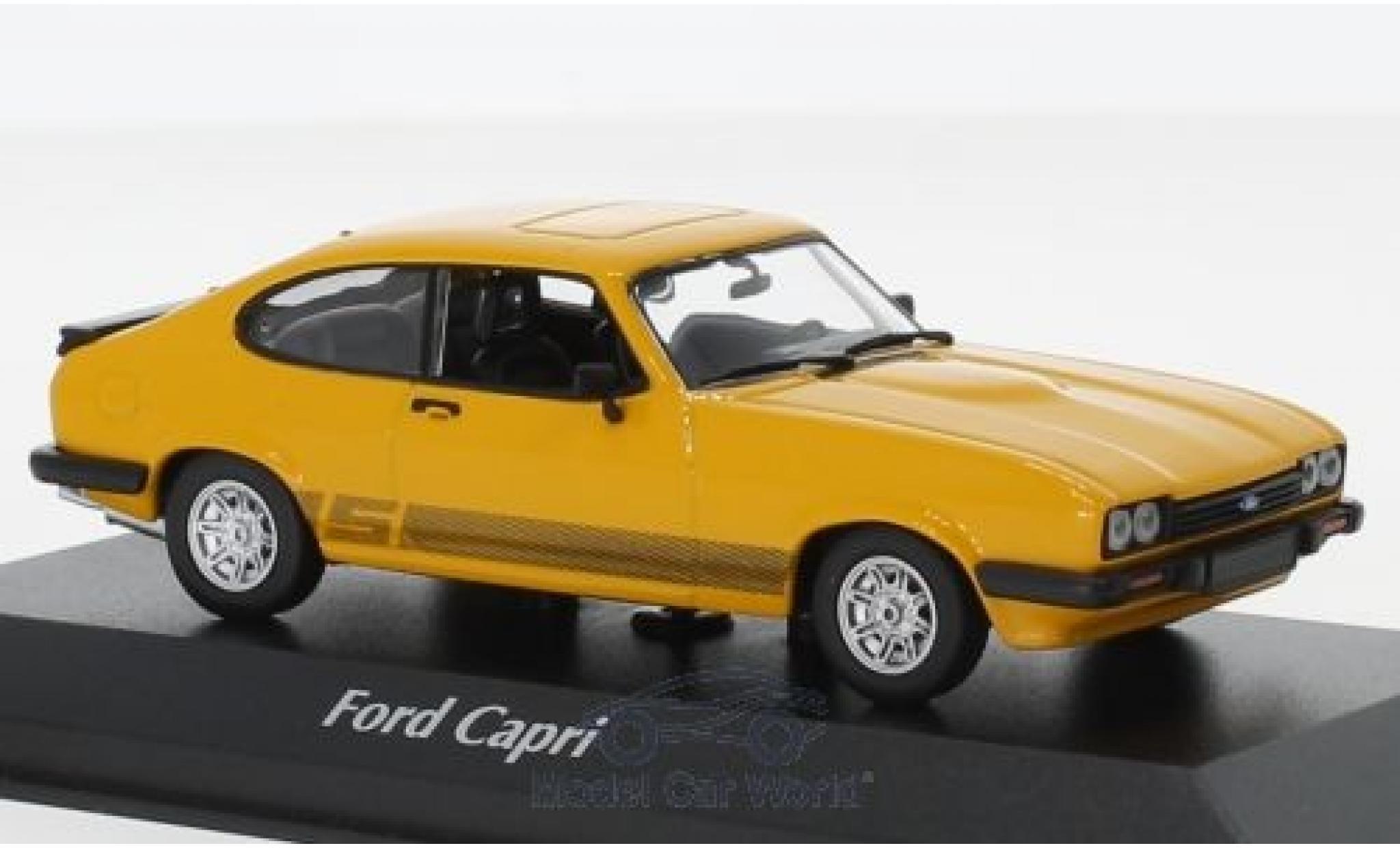 Ford Capri 1/43 Maxichamps MKIII 3.0 S jaune 1982