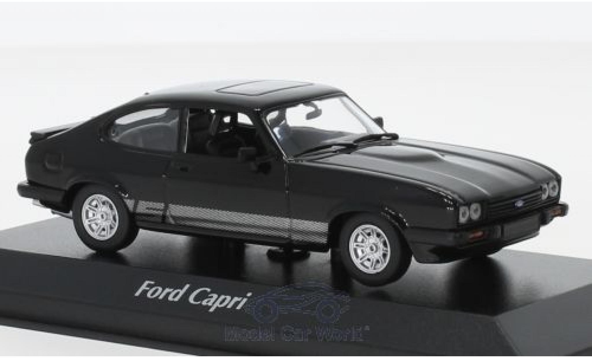 Ford Capri 1/43 Maxichamps MKIII 3.0 S noire 1982