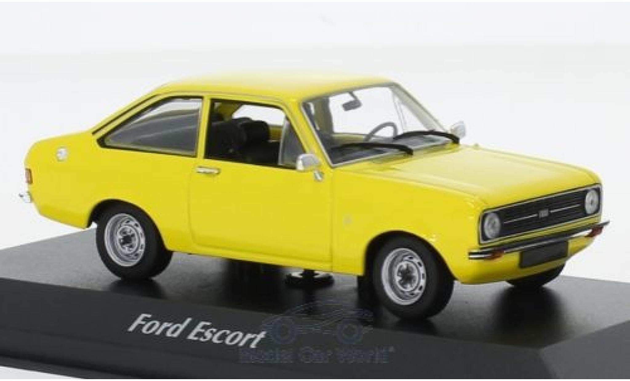 Ford Escort 1/43 Maxichamps 1.3 jaune 1975