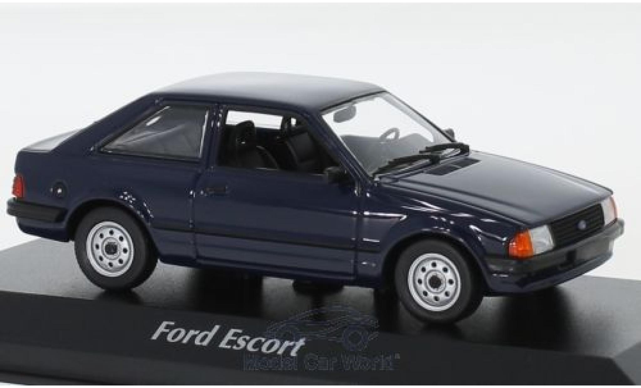 Ford Escort 1/43 Maxichamps MK III bleue 1981