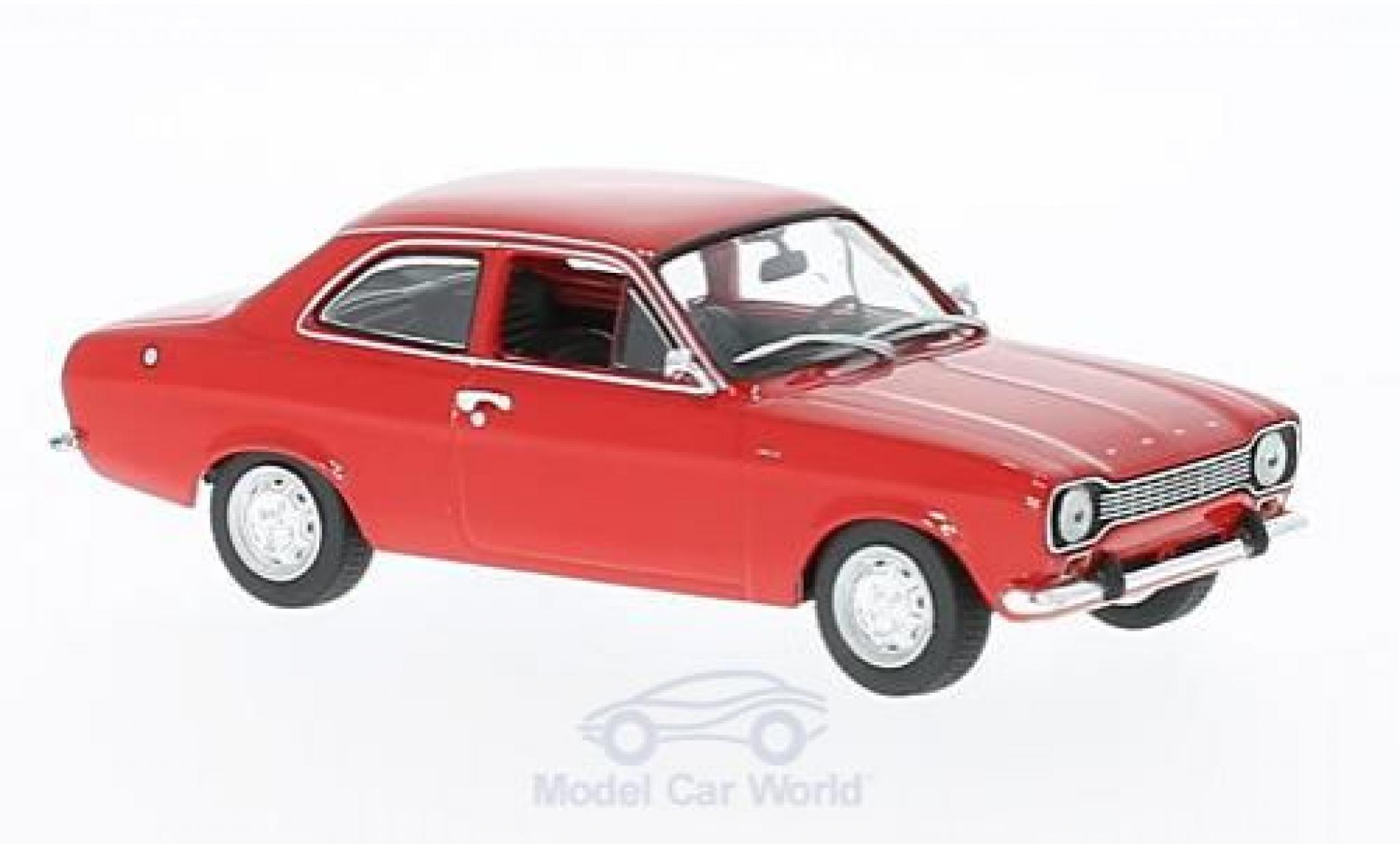 Ford Escort MKI 1/43 Maxichamps rouge 1968