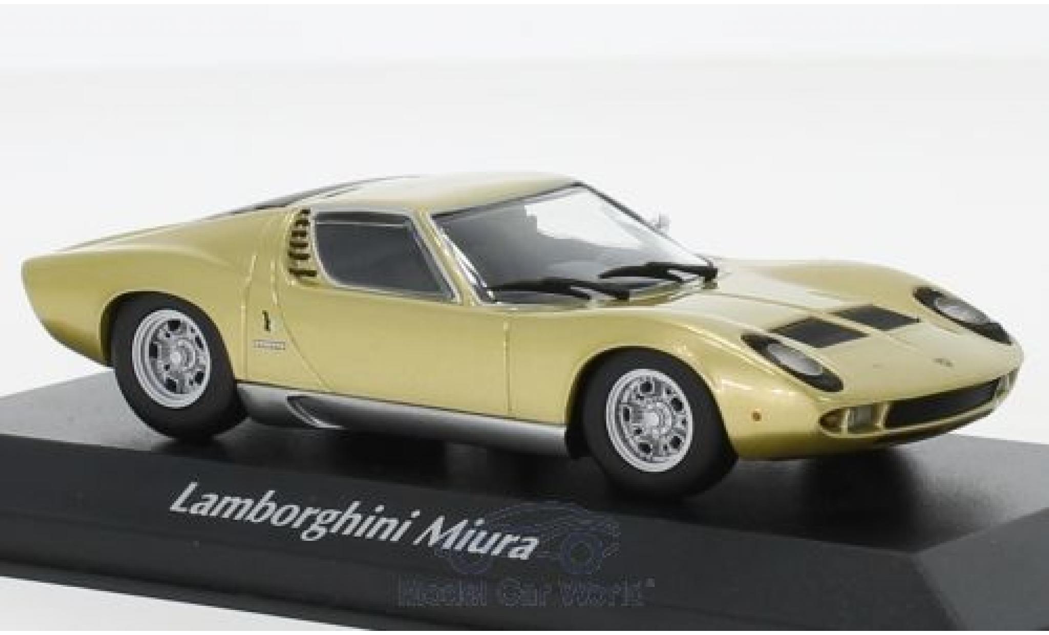 Lamborghini Miura 1/43 Maxichamps gold 1966