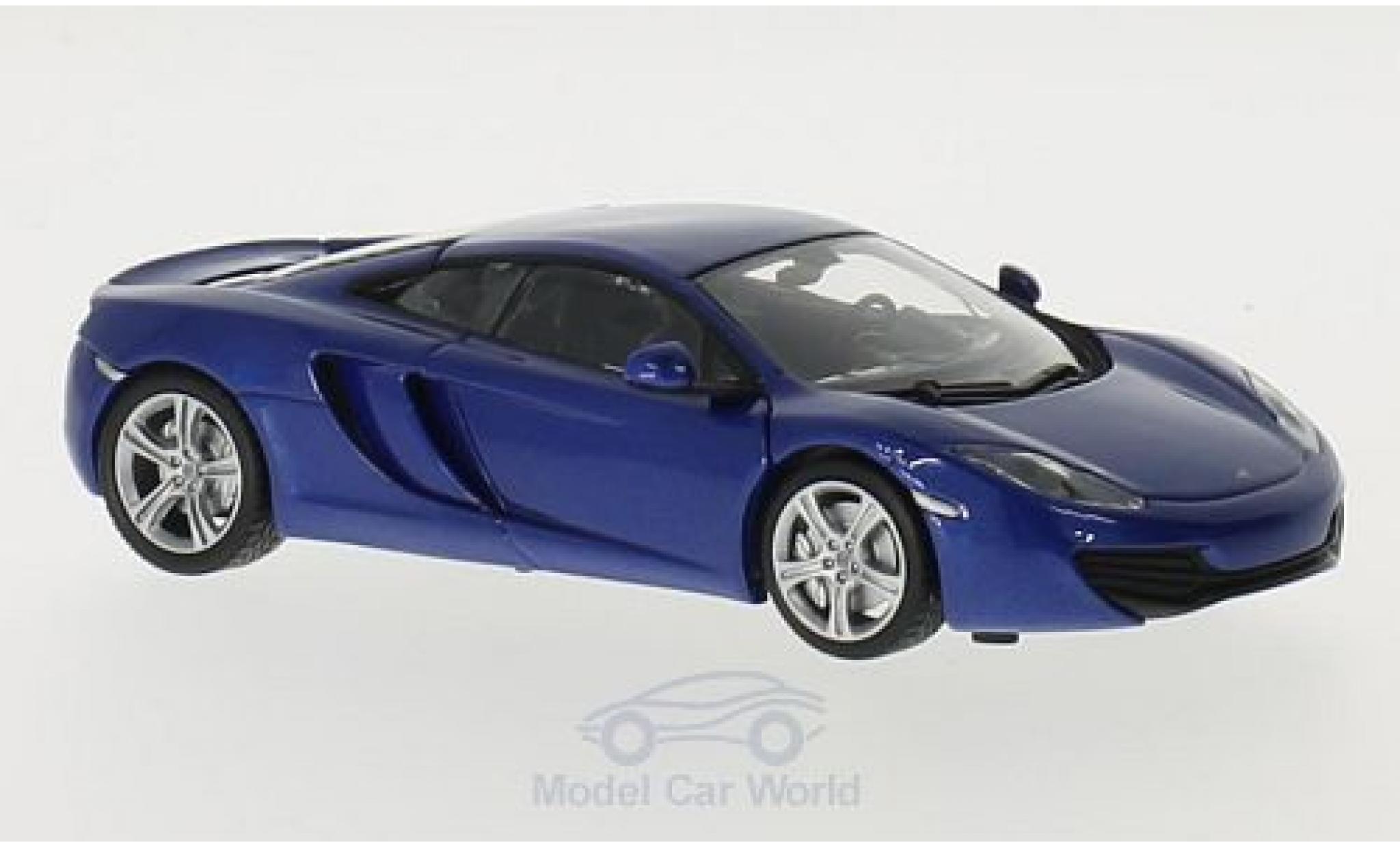 McLaren MP4-12C 1/43 Maxichamps 12C métallisé bleue 2011