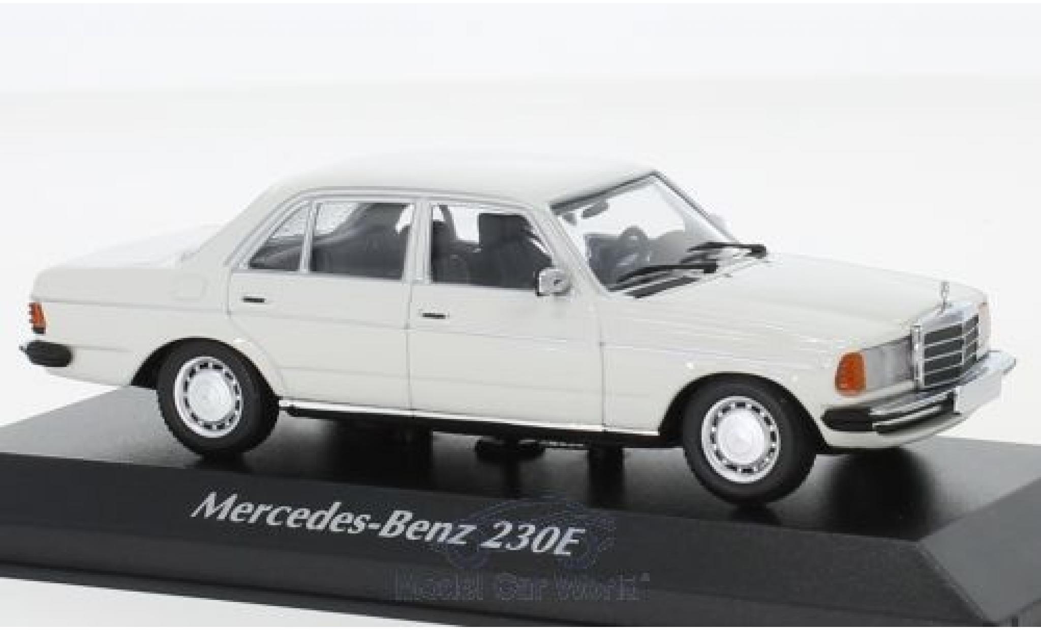 Mercedes 230 1/43 Maxichamps E (W123) blanche 1982