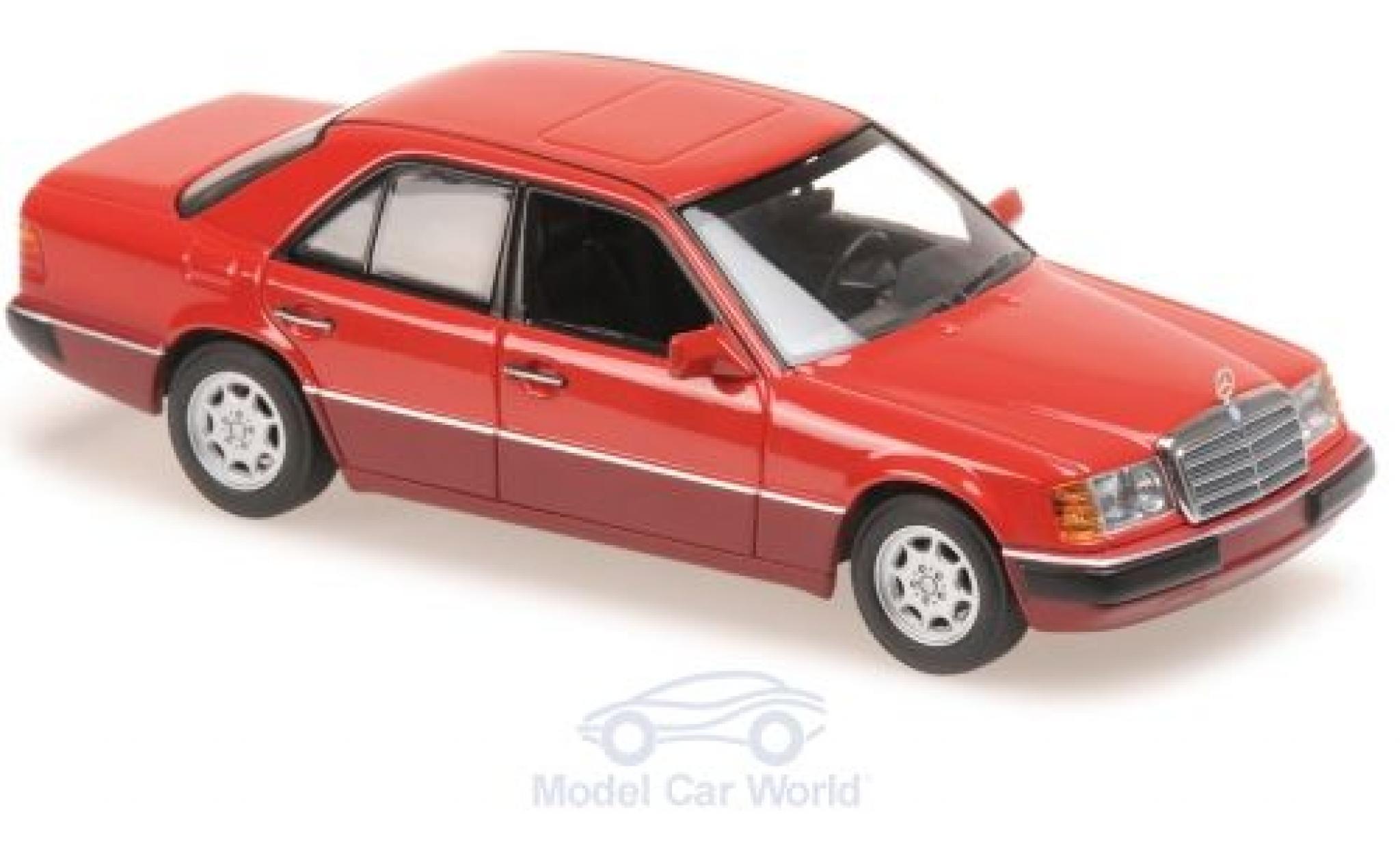 Mercedes 230 1/43 Maxichamps E (W124) rouge 1991