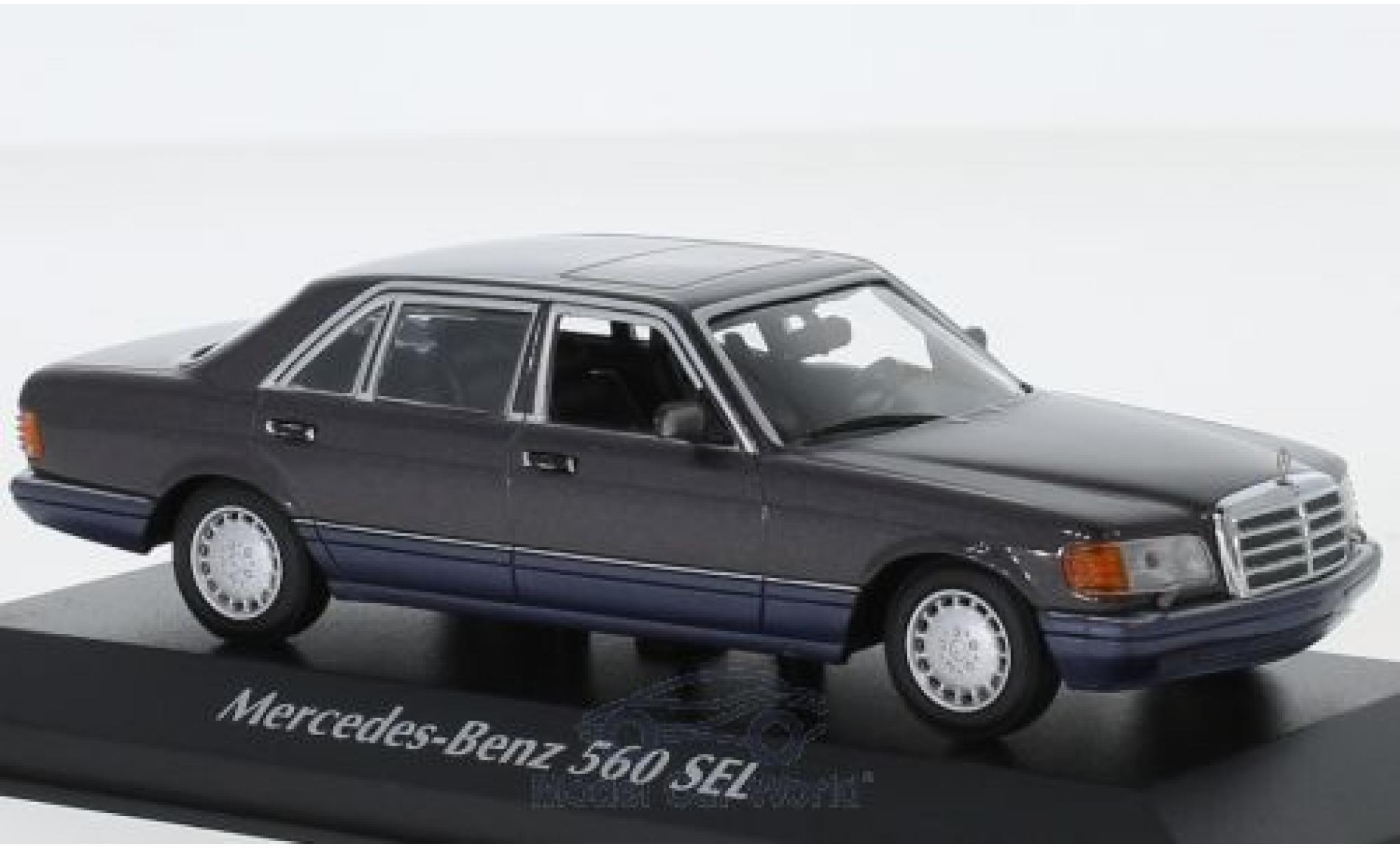 Mercedes 560 1/43 Maxichamps SEL (V126) métallisé violette 1990