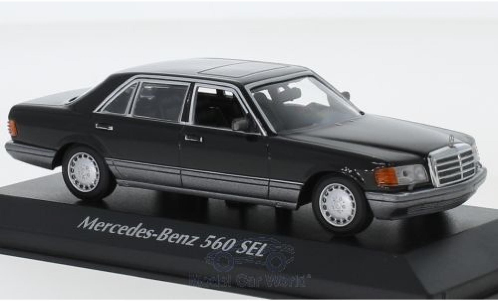 Mercedes 560 1/43 Maxichamps SEL (V126) noire 1990