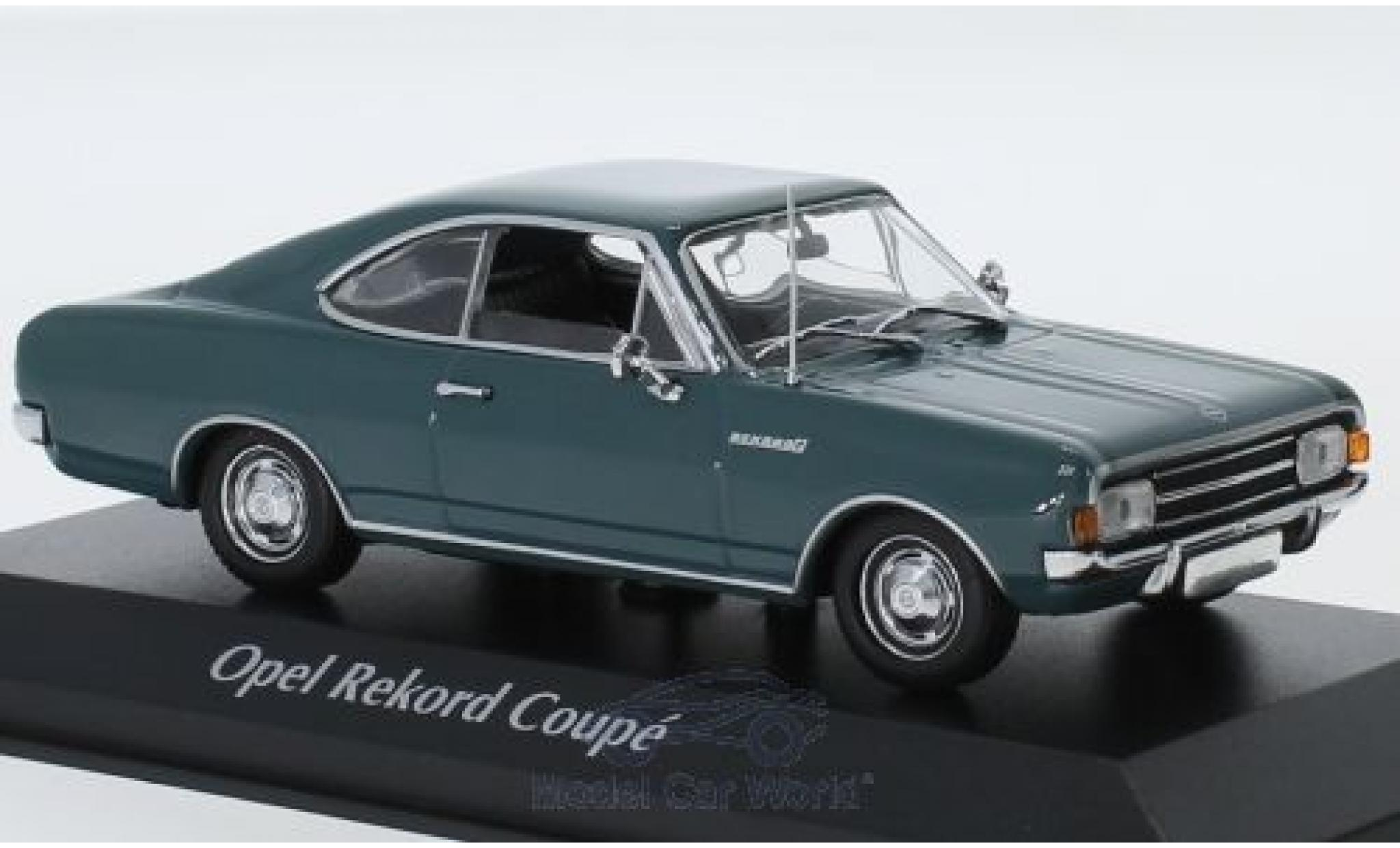 Opel Rekord 1/43 Maxichamps C Coupe bleue 1966