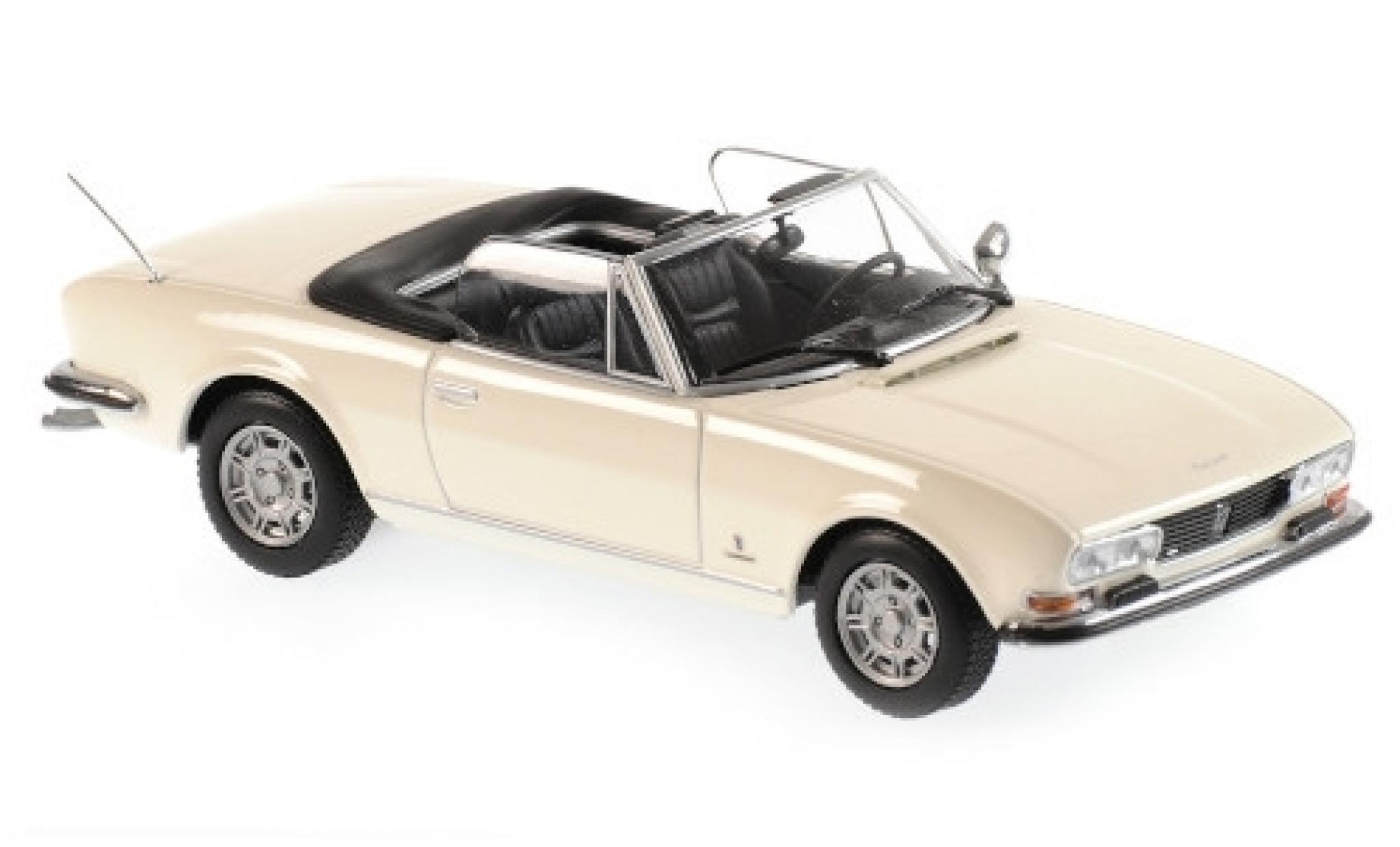 Peugeot 504 1/43 Maxichamps Cabriolet blanche 1977