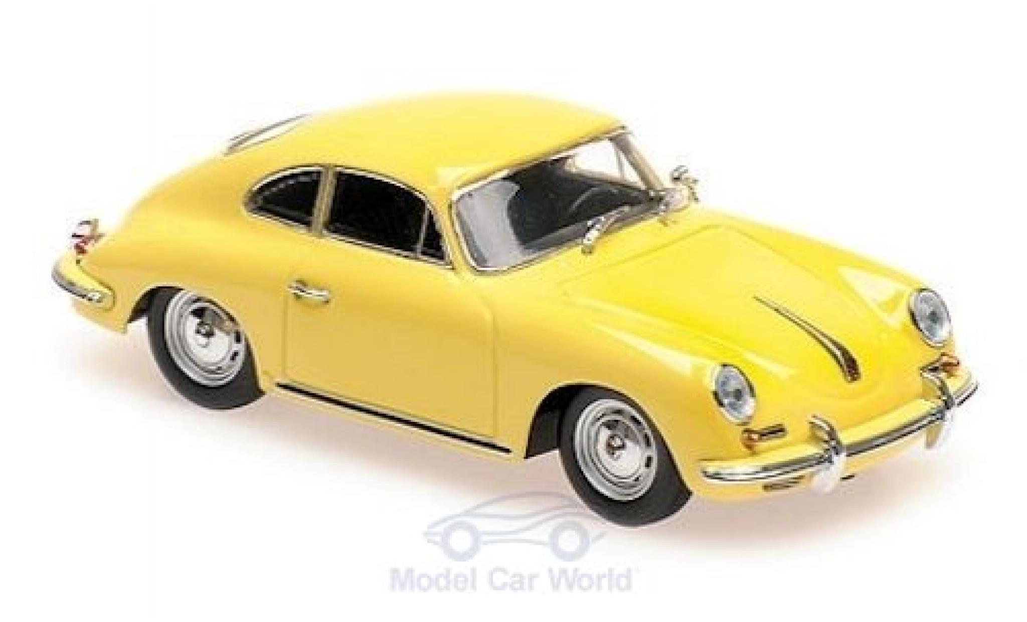 Porsche 356 1/43 Maxichamps B Coupe jaune 1961
