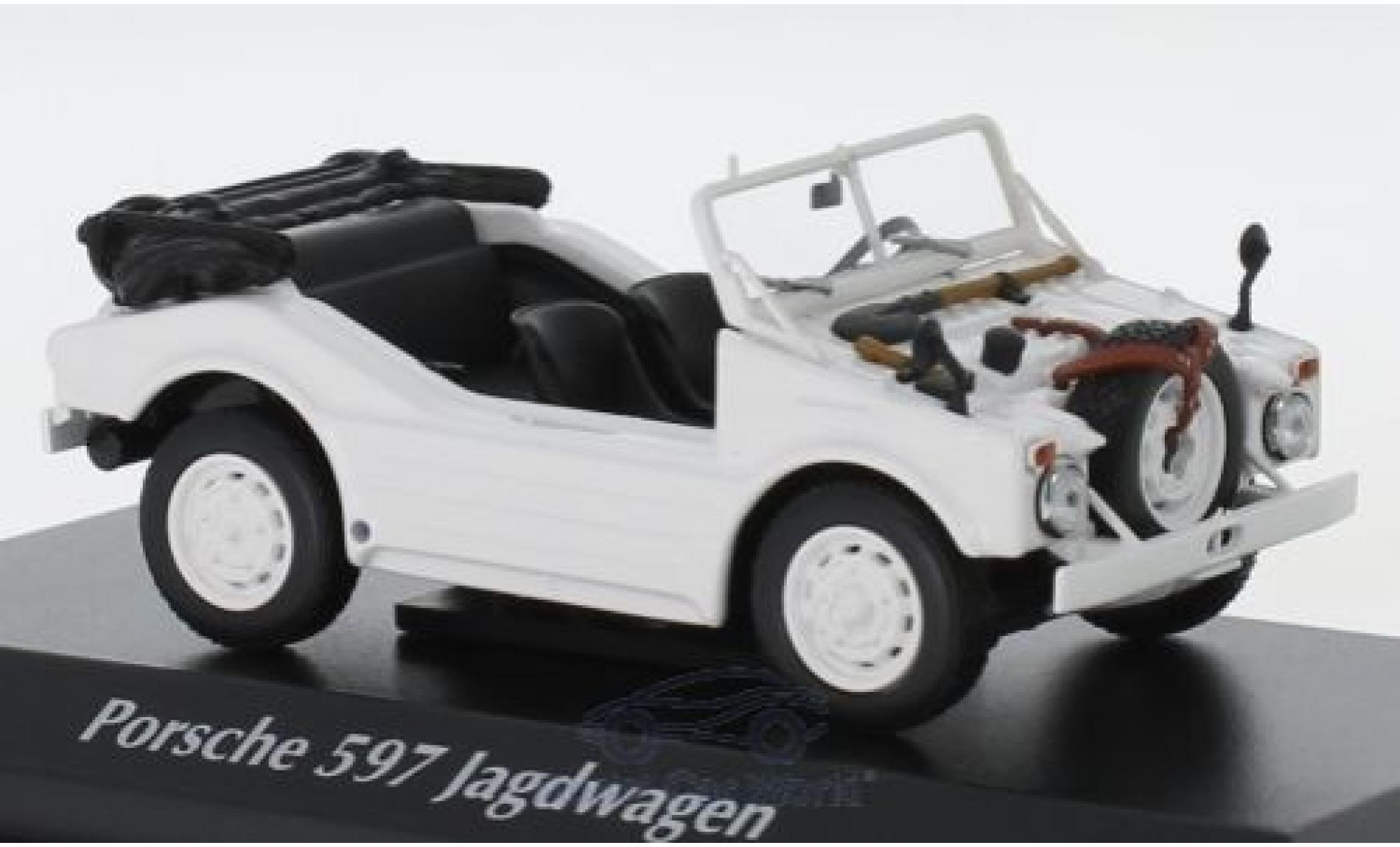 Porsche 597 1/43 Maxichamps Jagdwagen blanche 1954