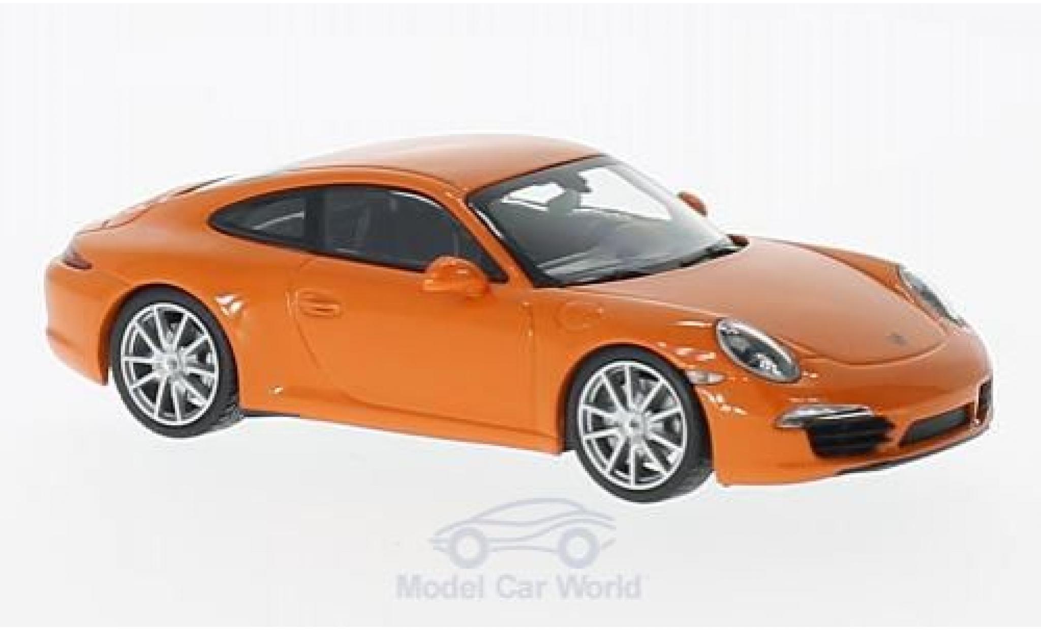Porsche 991 S 1/43 Maxichamps 911  Carrera orange 2012
