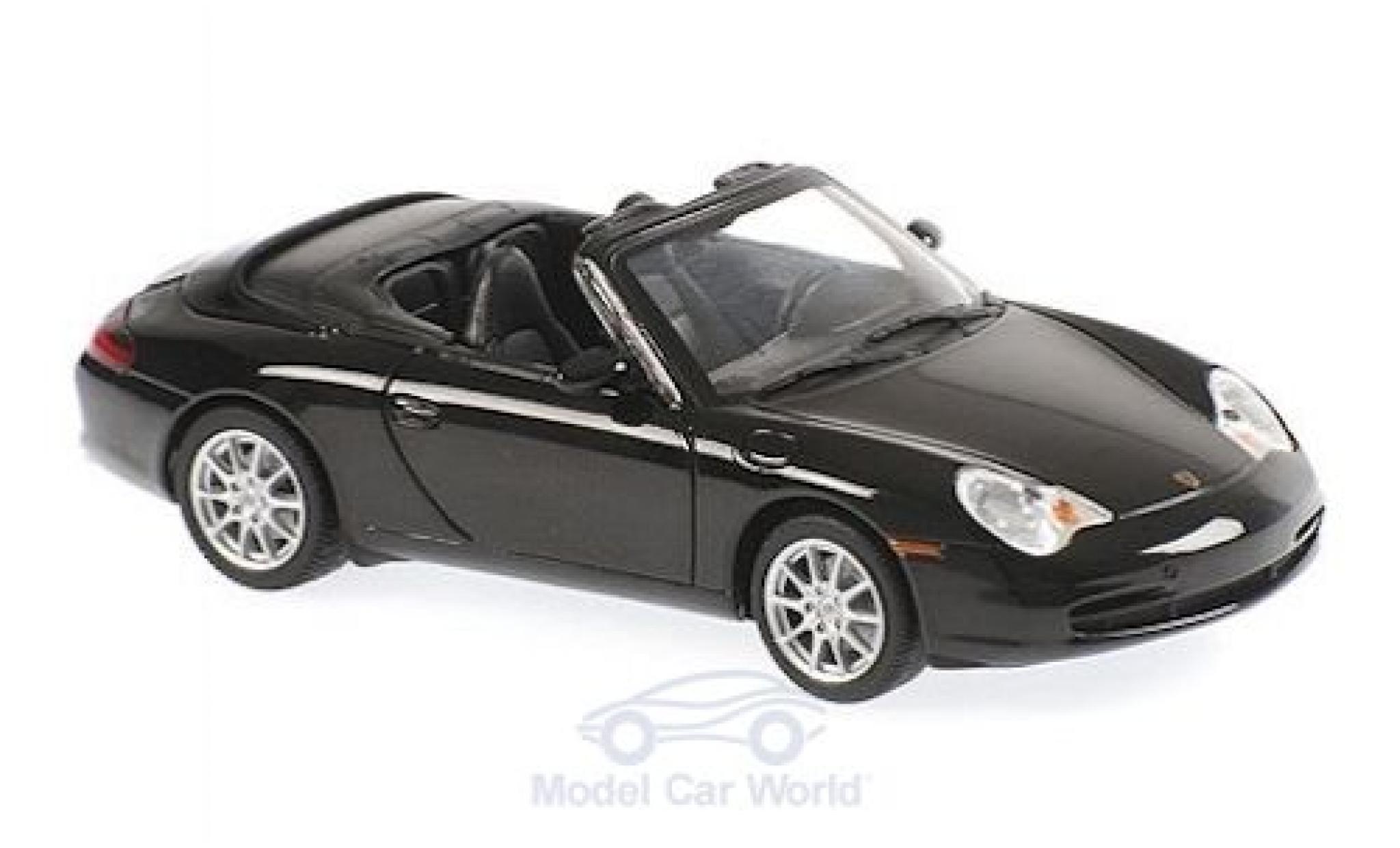 Porsche 911 1/43 Maxichamps (996) Cabriolet métallisé noire 2001
