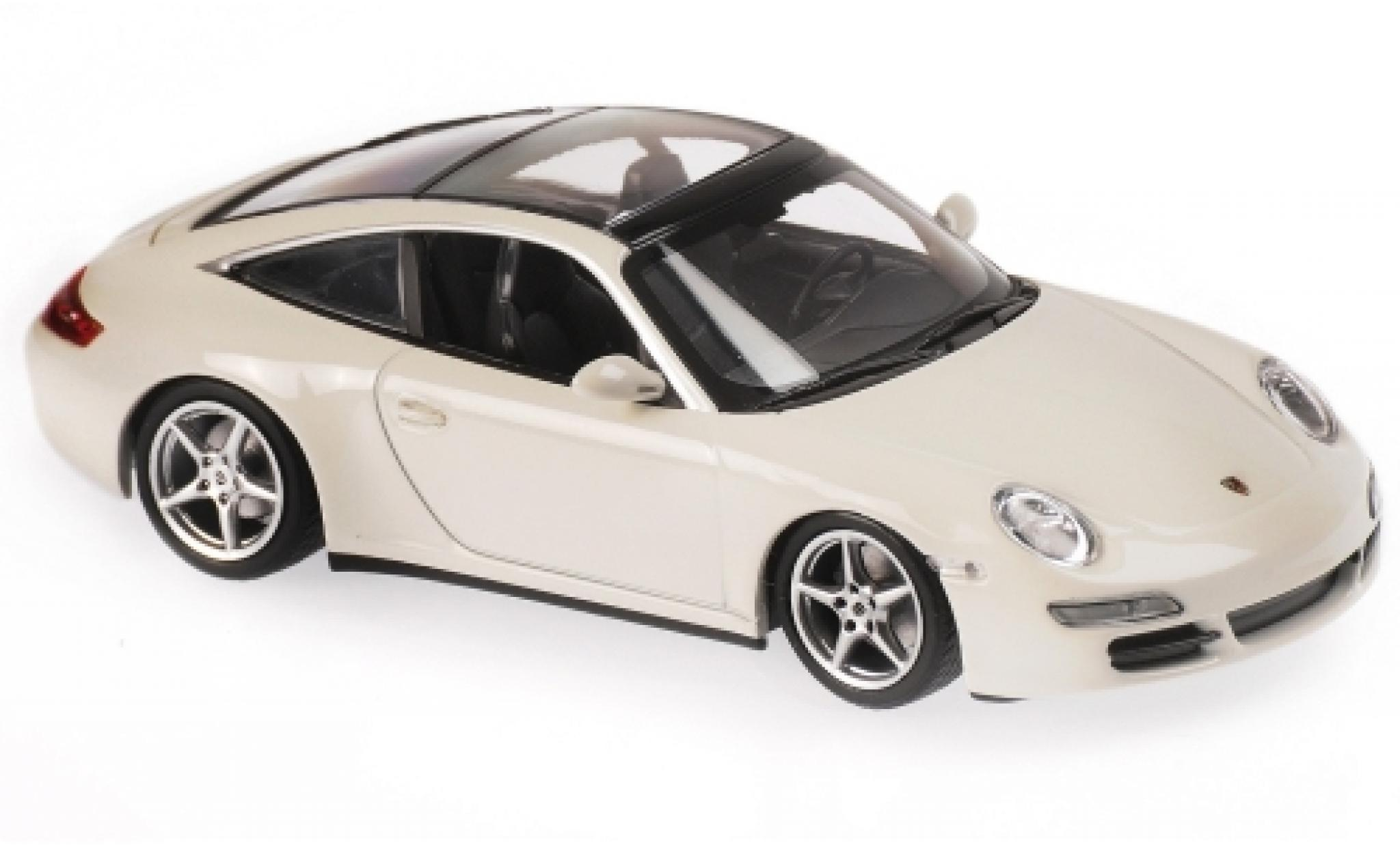 Porsche 997 Targa 1/43 Maxichamps 911  white 2006