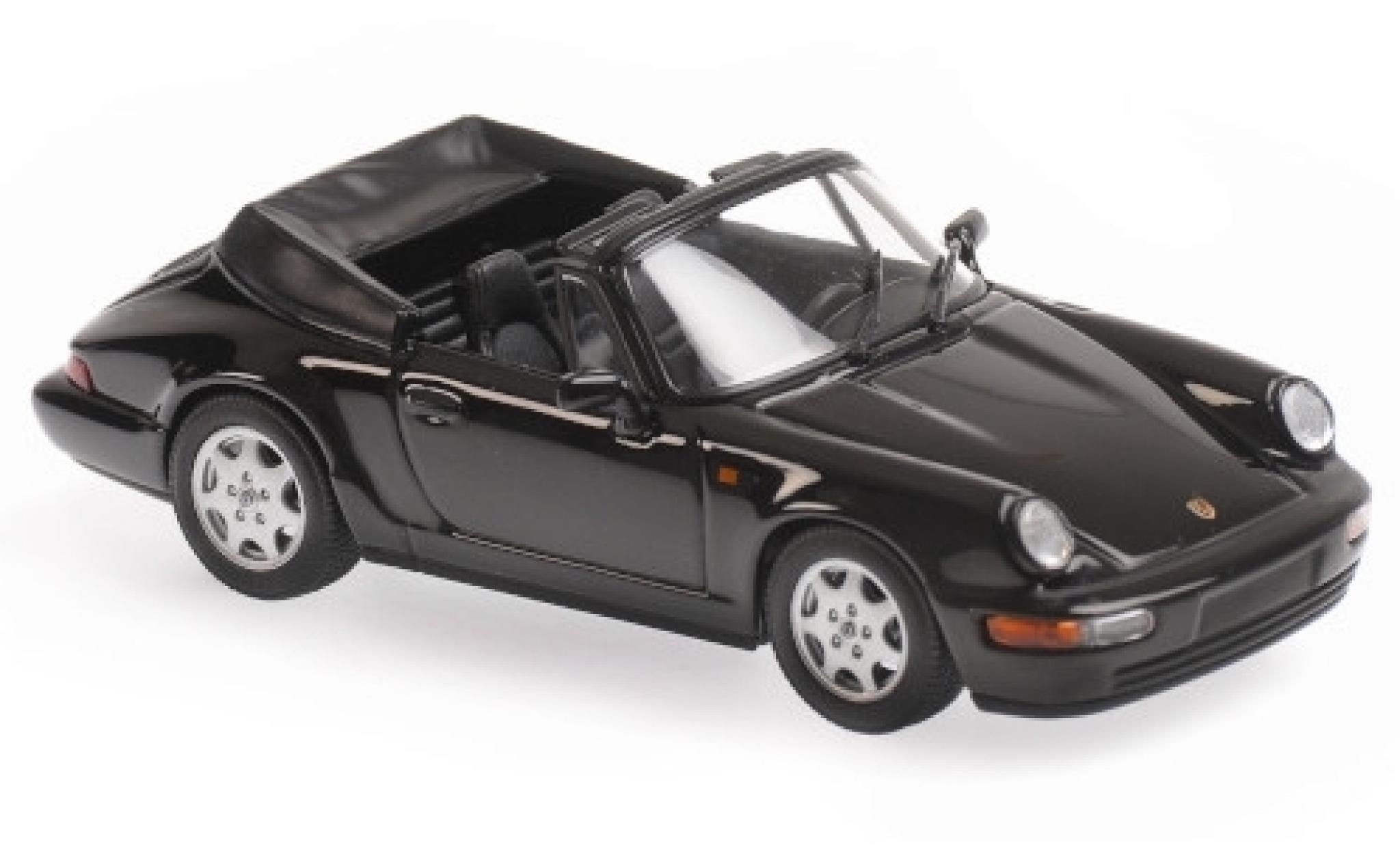 Porsche 964 1/43 Maxichamps 911 Carrera 4 Cabriolet  noire 1990