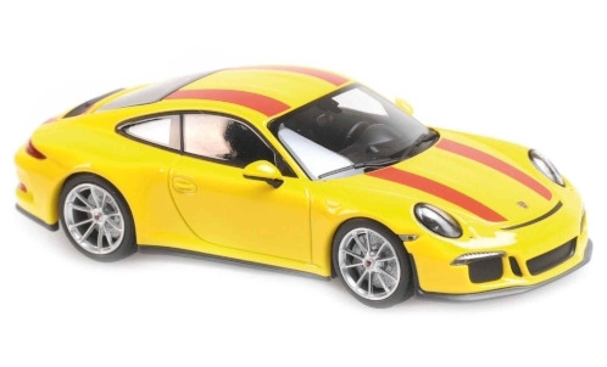Porsche 991 R 1/43 Maxichamps 911  yellow/red 2016