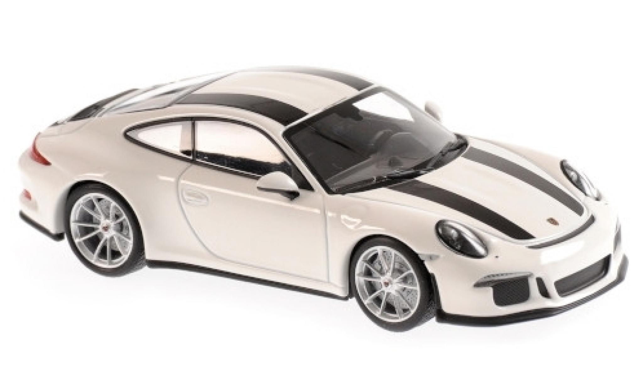 Porsche 991 R 1/43 Maxichamps 911  white/black 2016