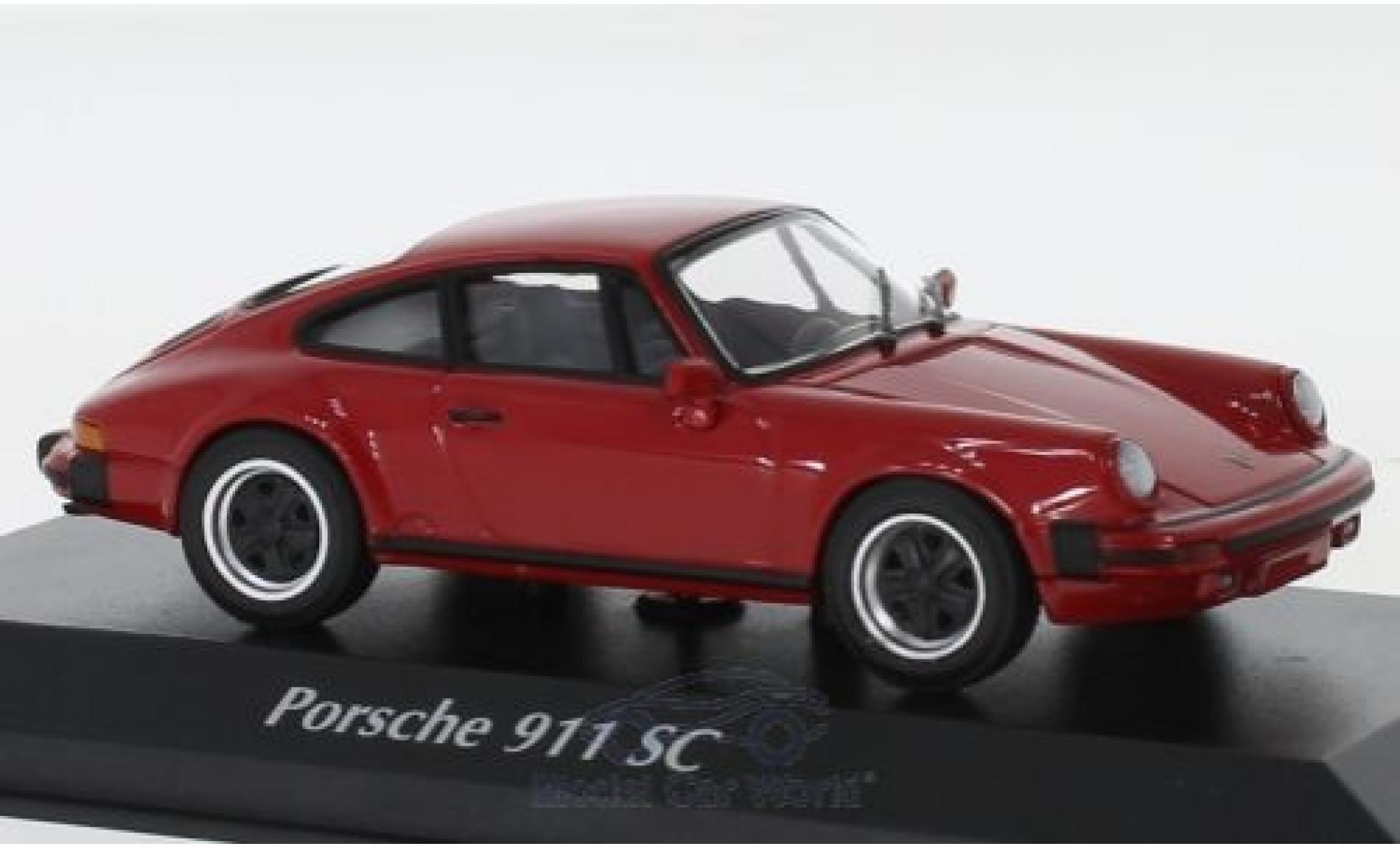 Porsche 930 1/43 Maxichamps 911 SC rouge 1979