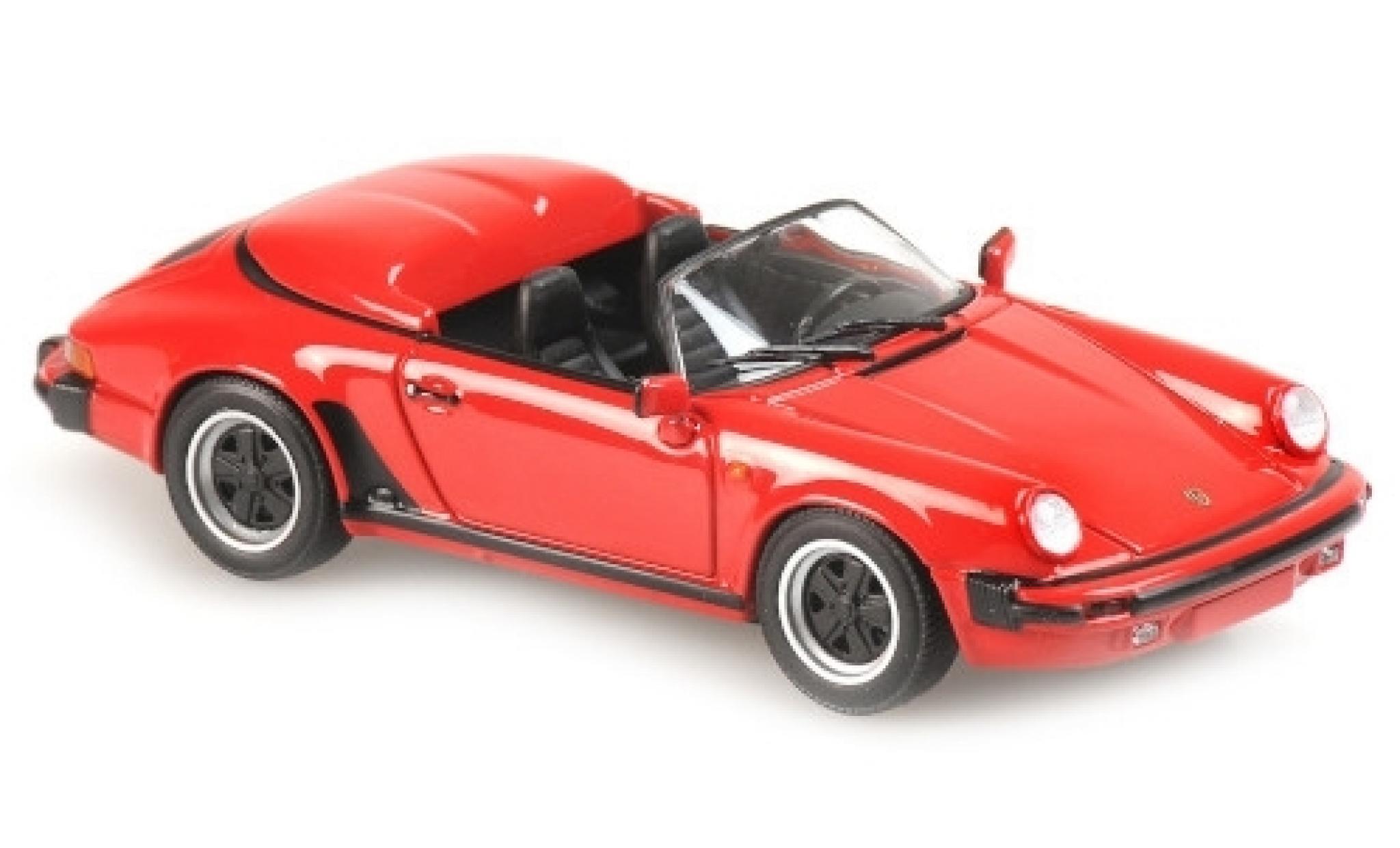 Porsche 930 Speedster 1/43 Maxichamps 911 rouge 1988