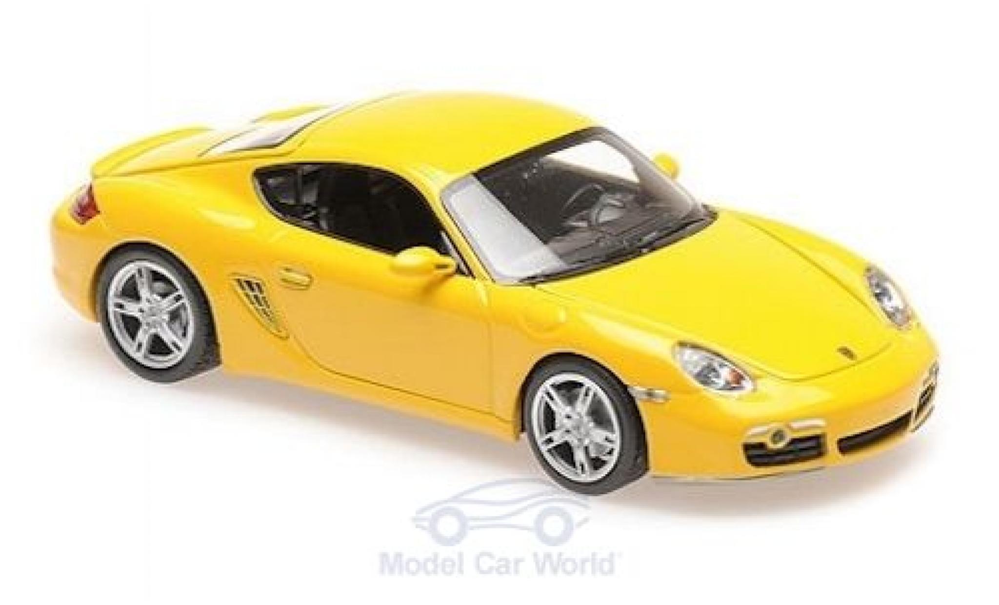 Porsche Cayman S 1/43 Maxichamps jaune 2005